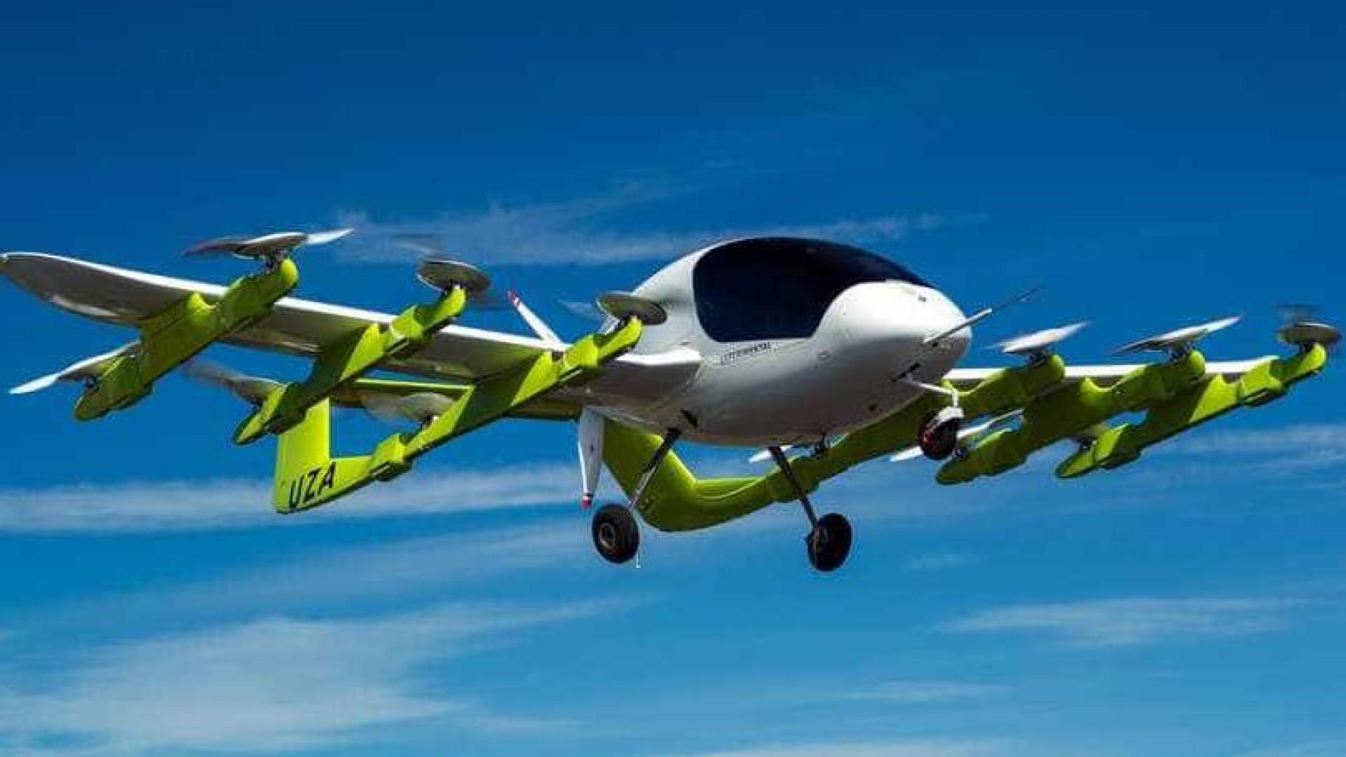 Fundador da Google já está a testar táxis voadores autónomos