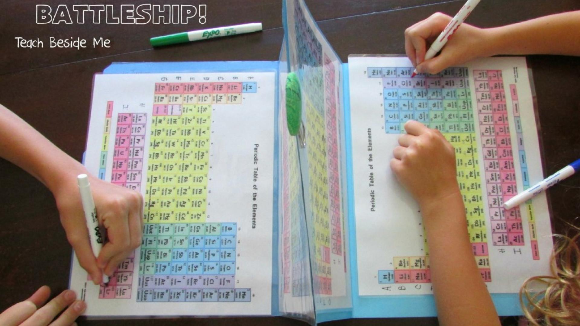 Cria batalha naval com tabela periódica para ajudar filho com química