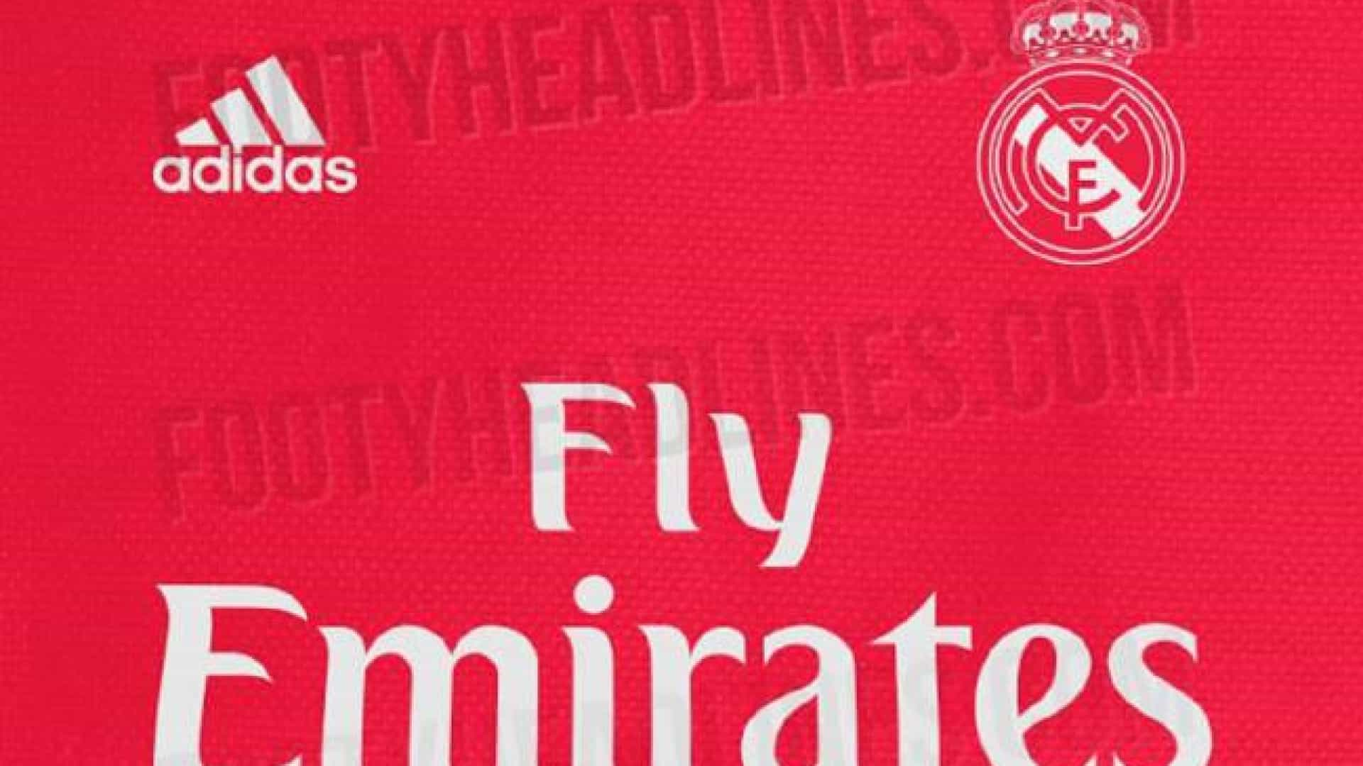 Real Madrid vai vestir de vermelho em 2018/19