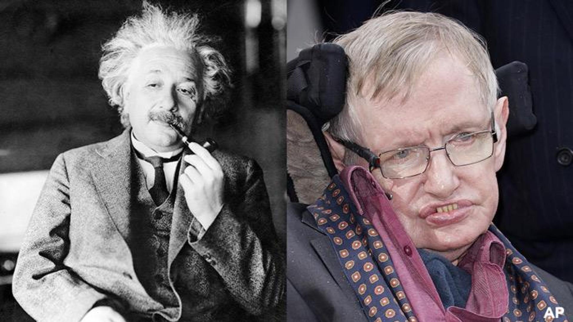 Stephen Hawking morreu no dia do aniversário de Albert Einstein