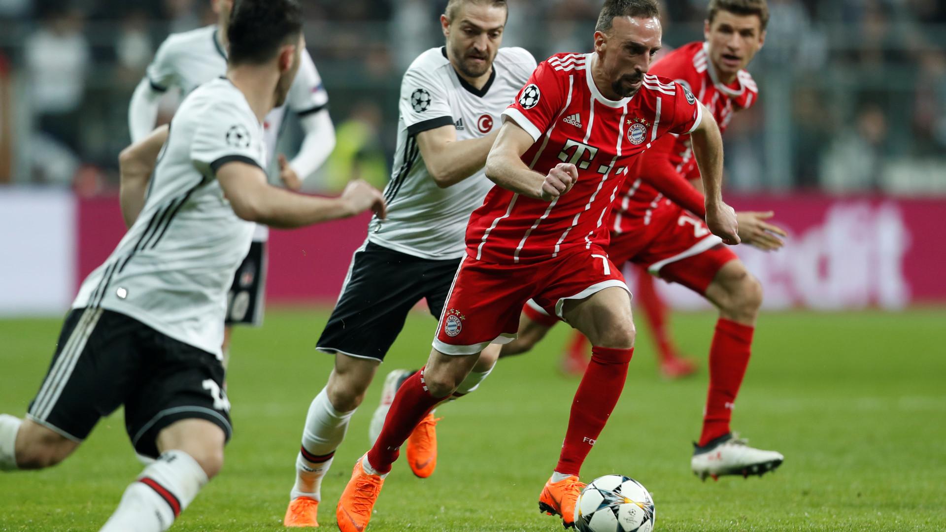 Bayern avassalador deixa Besiktas pelo caminho e segue para os 'quartos'