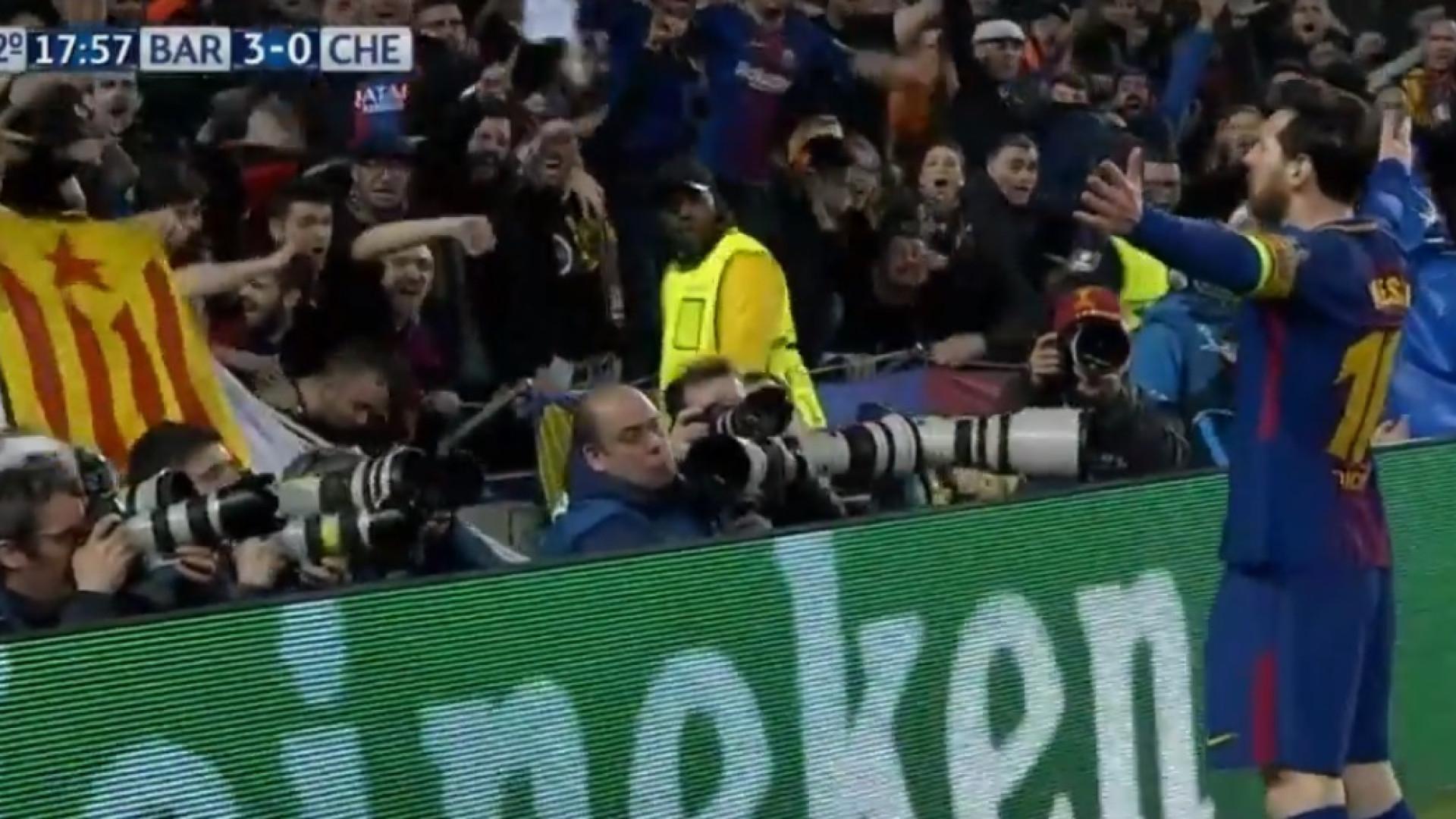 Mais um 'túnel' a Courtois e uma marca histórica para Leo Messi