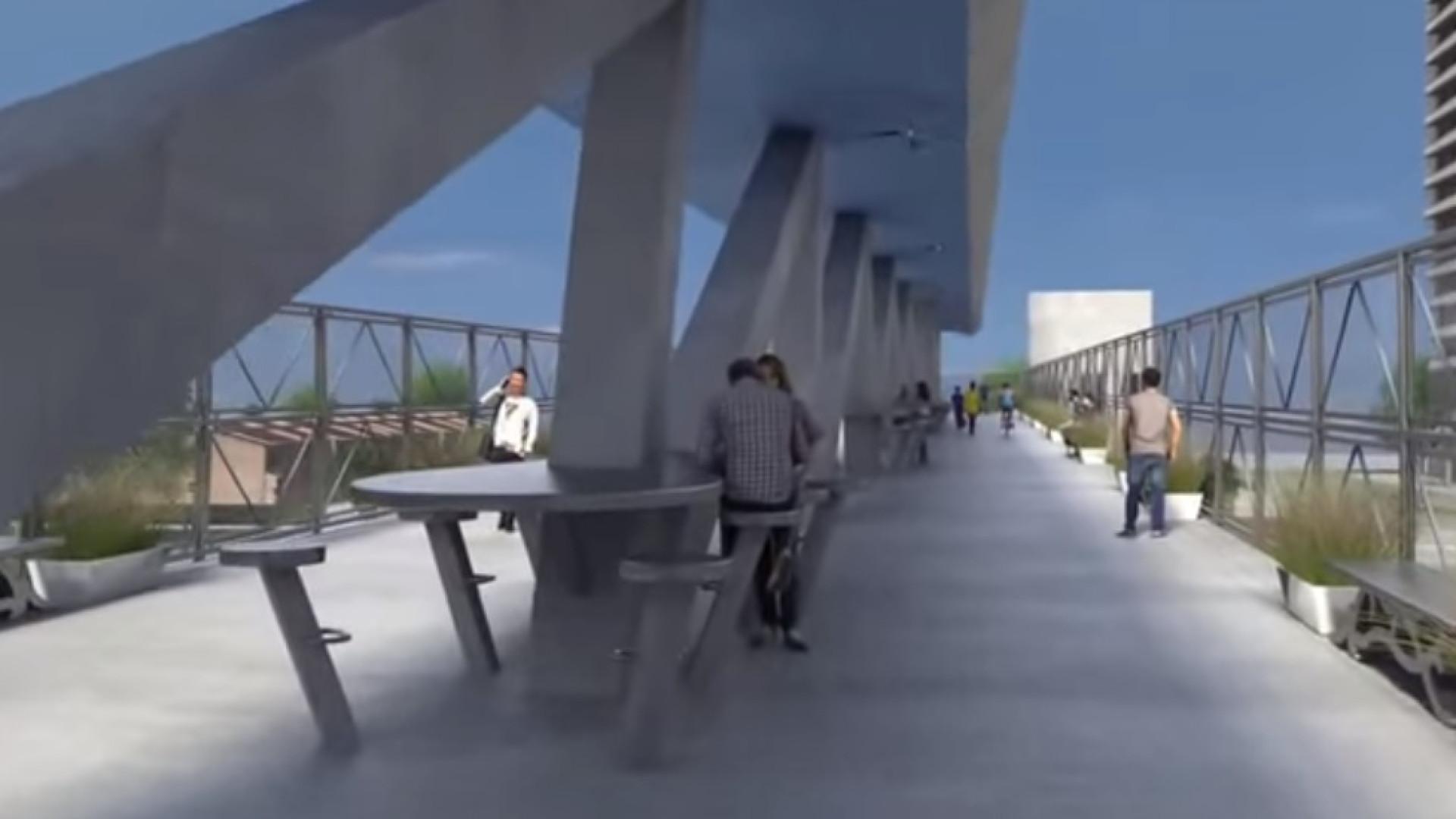 Ponte tinha sido projetada para dar passagem segura aos alunos