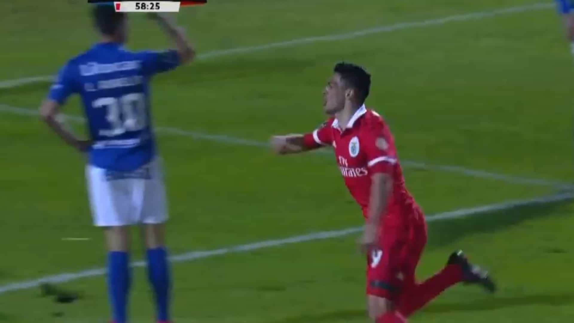 Jiménez só precisou de 29 segundos para adiantar o Benfica no marcador