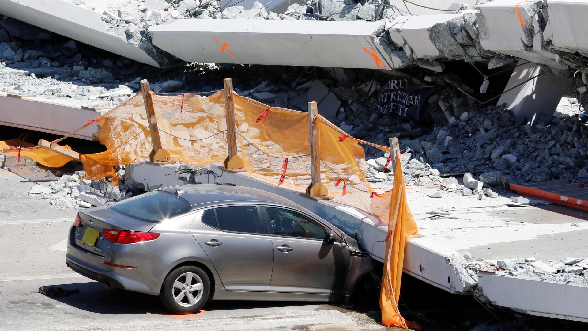 Divulgada filmagem que mostra momento em que ponte de Miami caiu