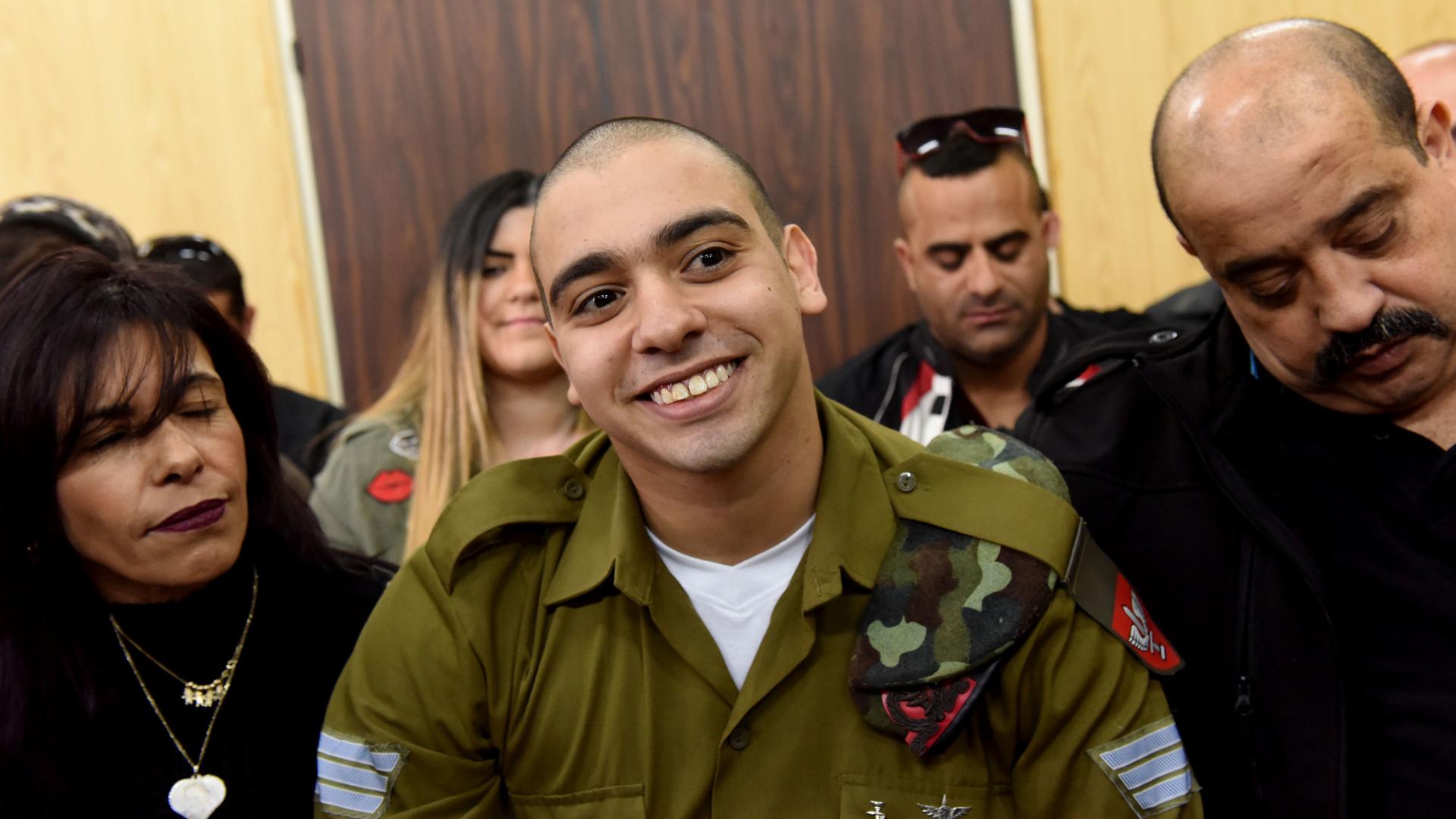 Libertado soldado israelita que abateu palestiniano a sangue frio