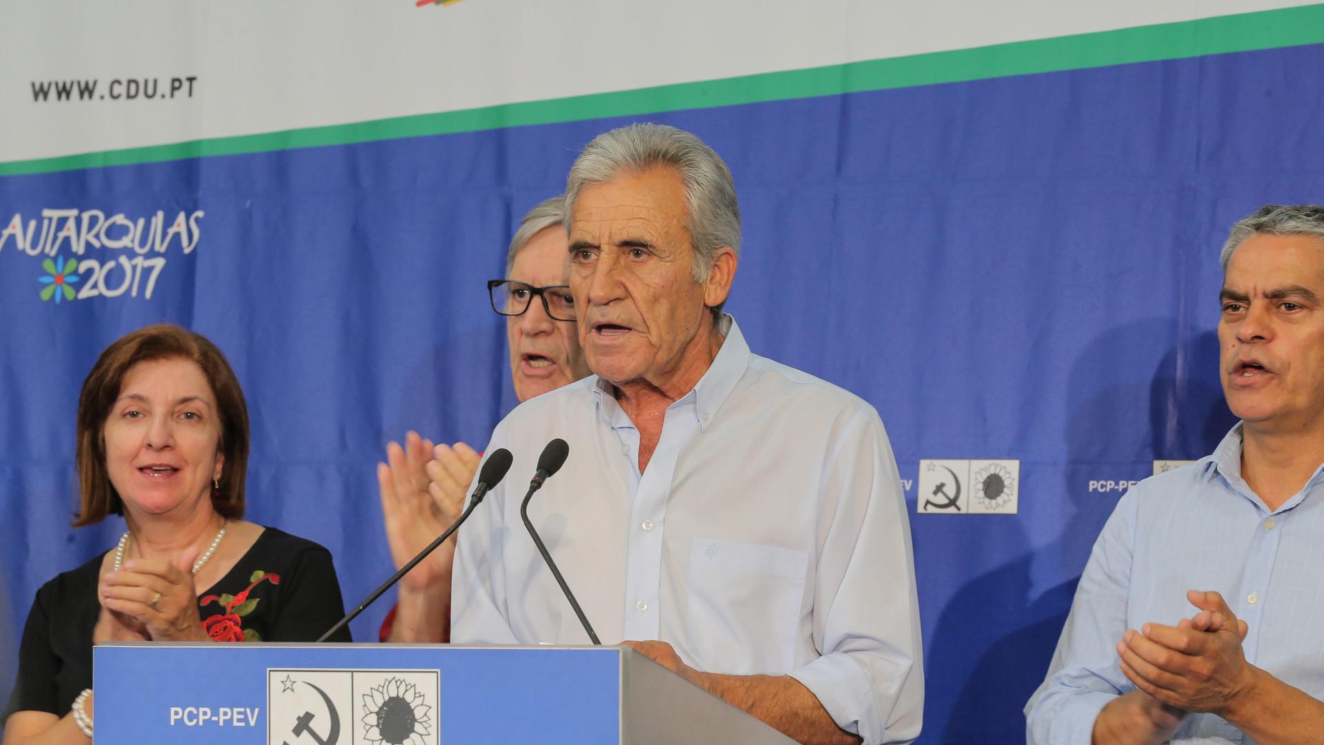 """Aumentos salariais são """"mais elementar justiça"""" para Jerónimo de Sousa"""