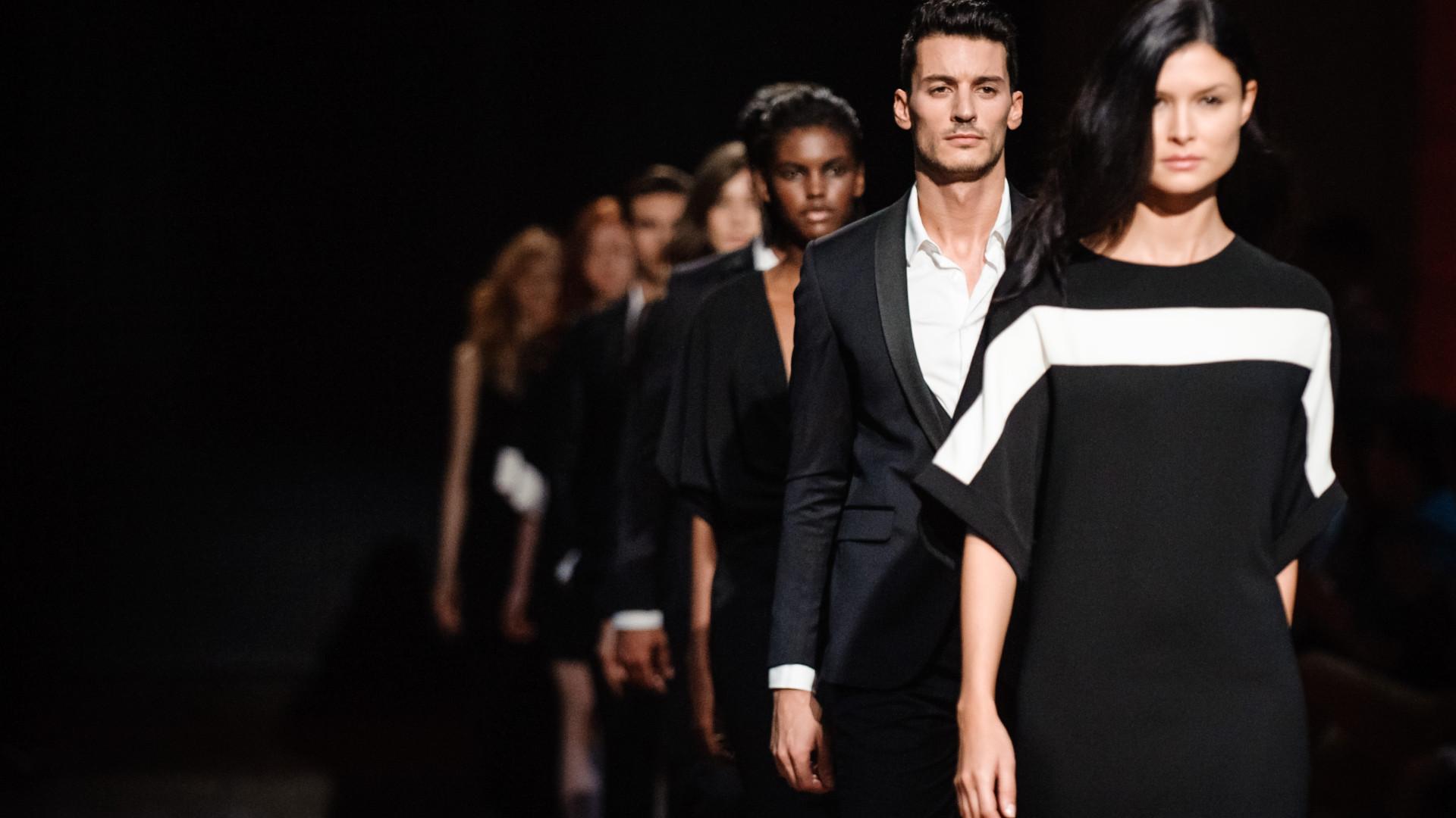 Miguel Vieira, Hugo Costa e Luís Buchinho na 'cidade da moda'