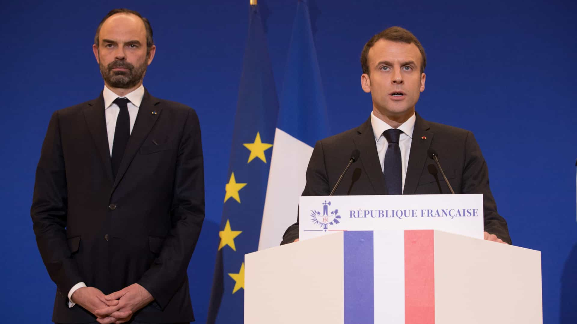 Distúrbios em manifestação contra reformas de Macron