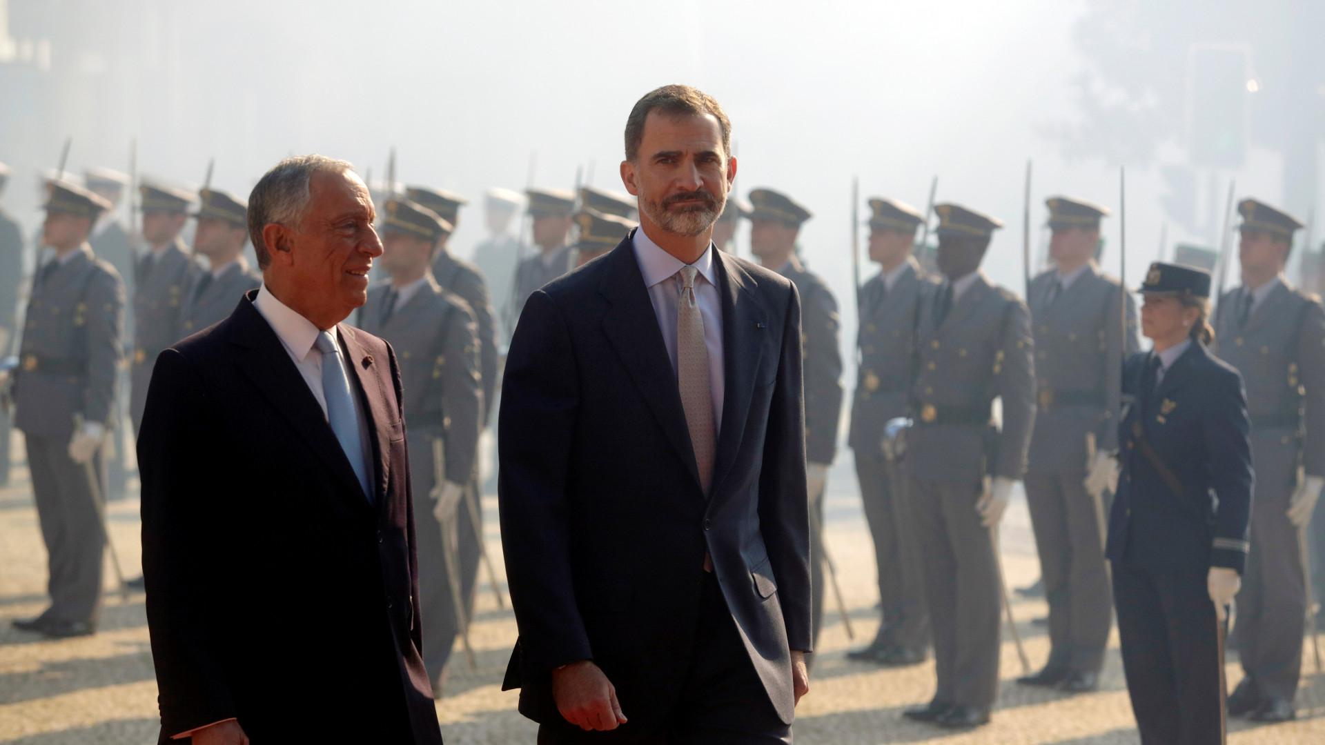 Marcelo inicia visita de Estado de três dias a Espanha
