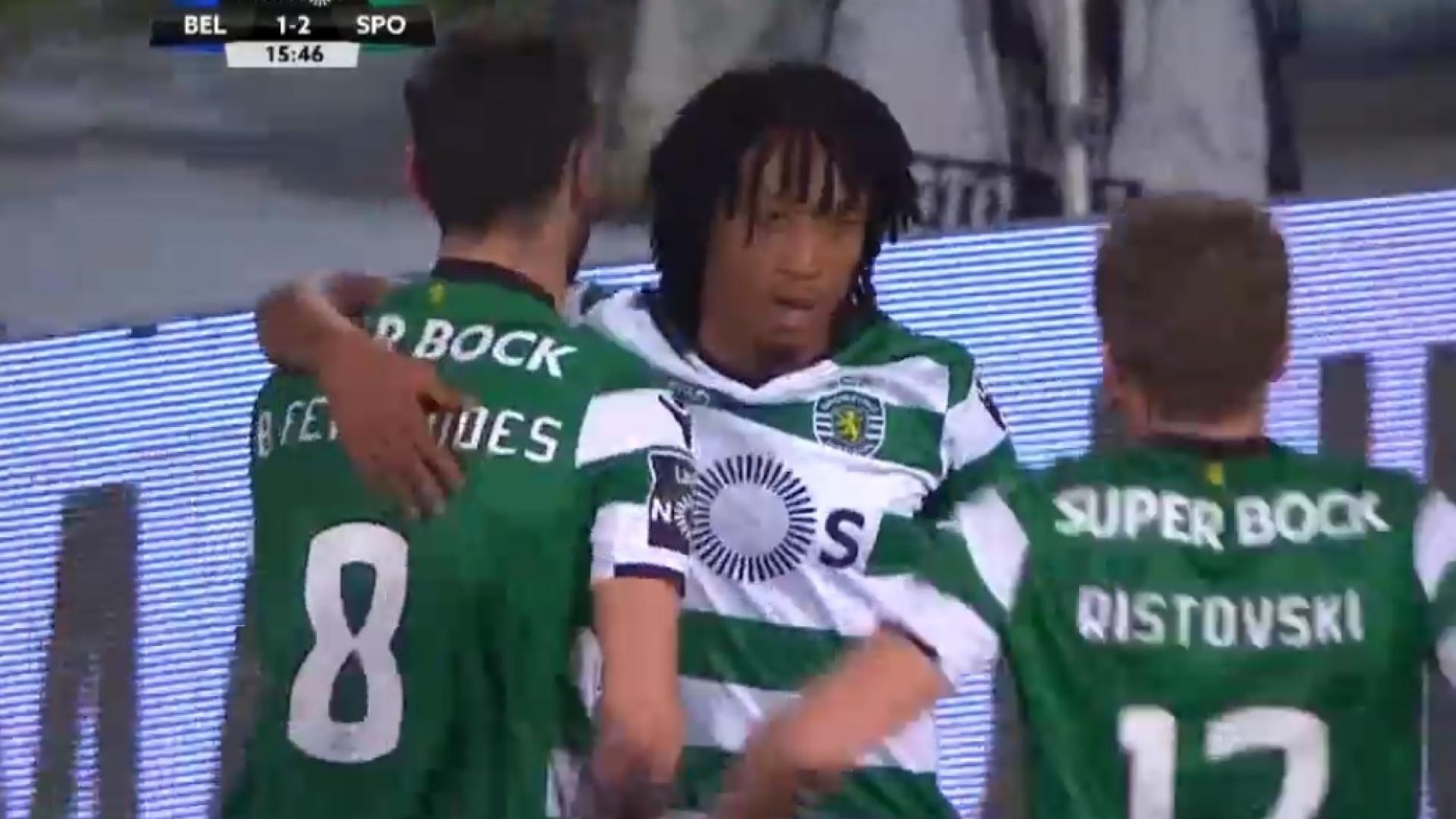 Bruno Fernandes assiste (mais uma vez) e Gelson coloca Sporting a vencer