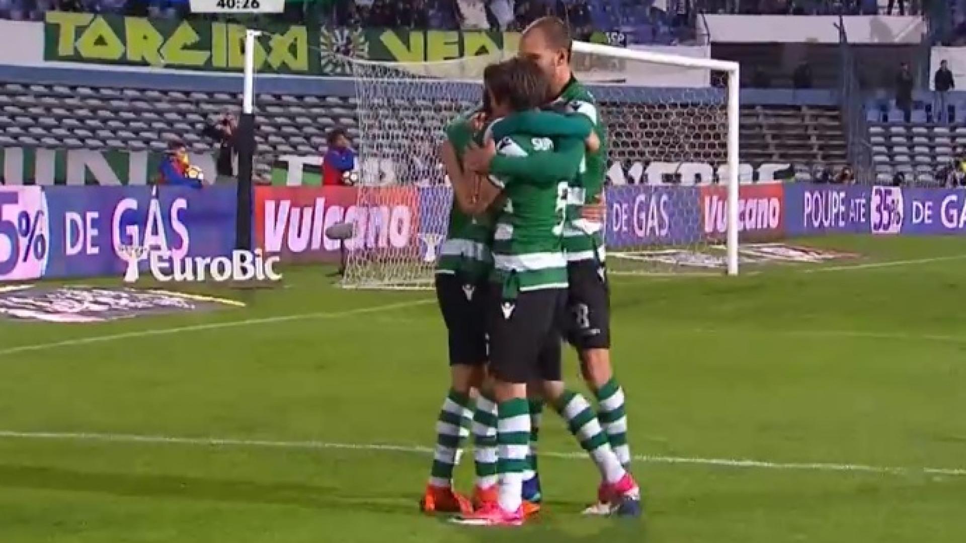 Assim foi o terceiro golo do Sporting marcado por Acuña