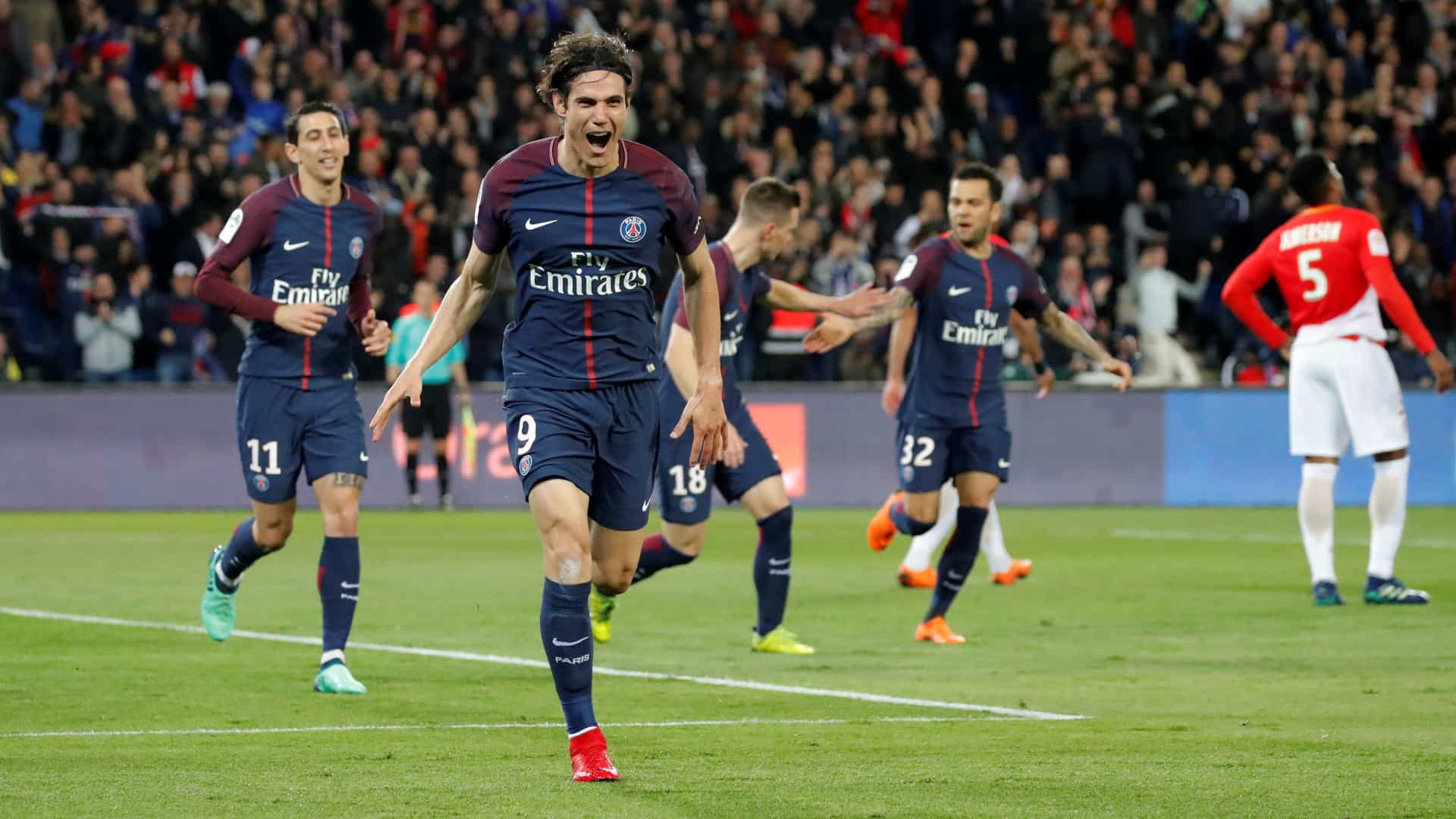 PSG 'cilindra' o Mónaco de Leonardo Jardim e sagra-se campeão em França