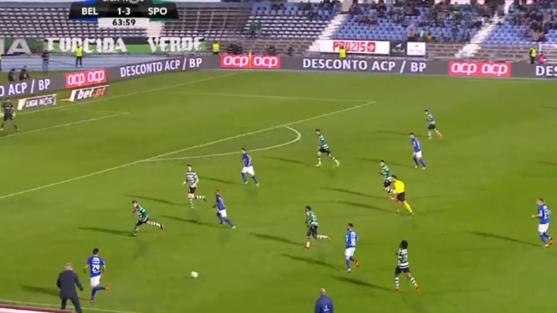 Golo de Licá reduz desvantagem para o Sporting