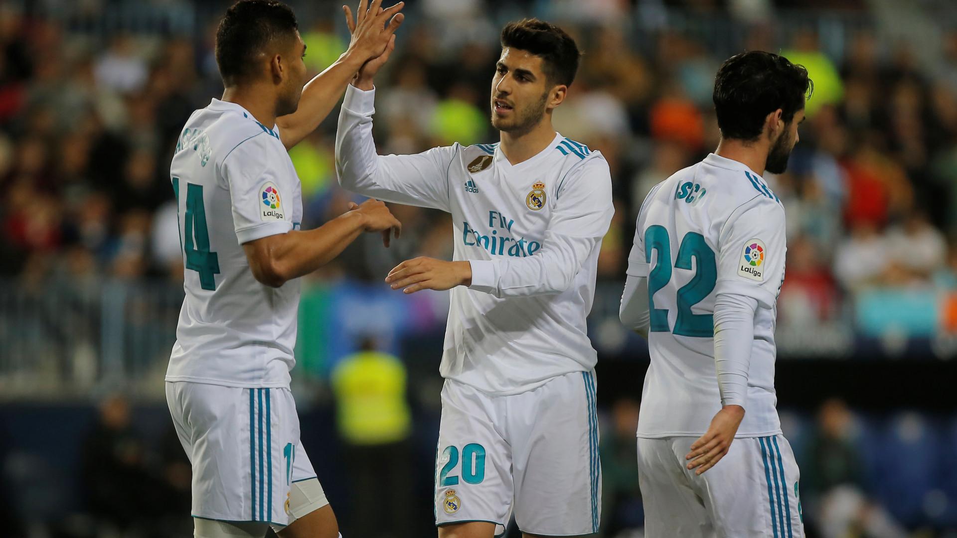 Real Madrid sem CR7 vence em Málaga e ascende ao terceiro lugar