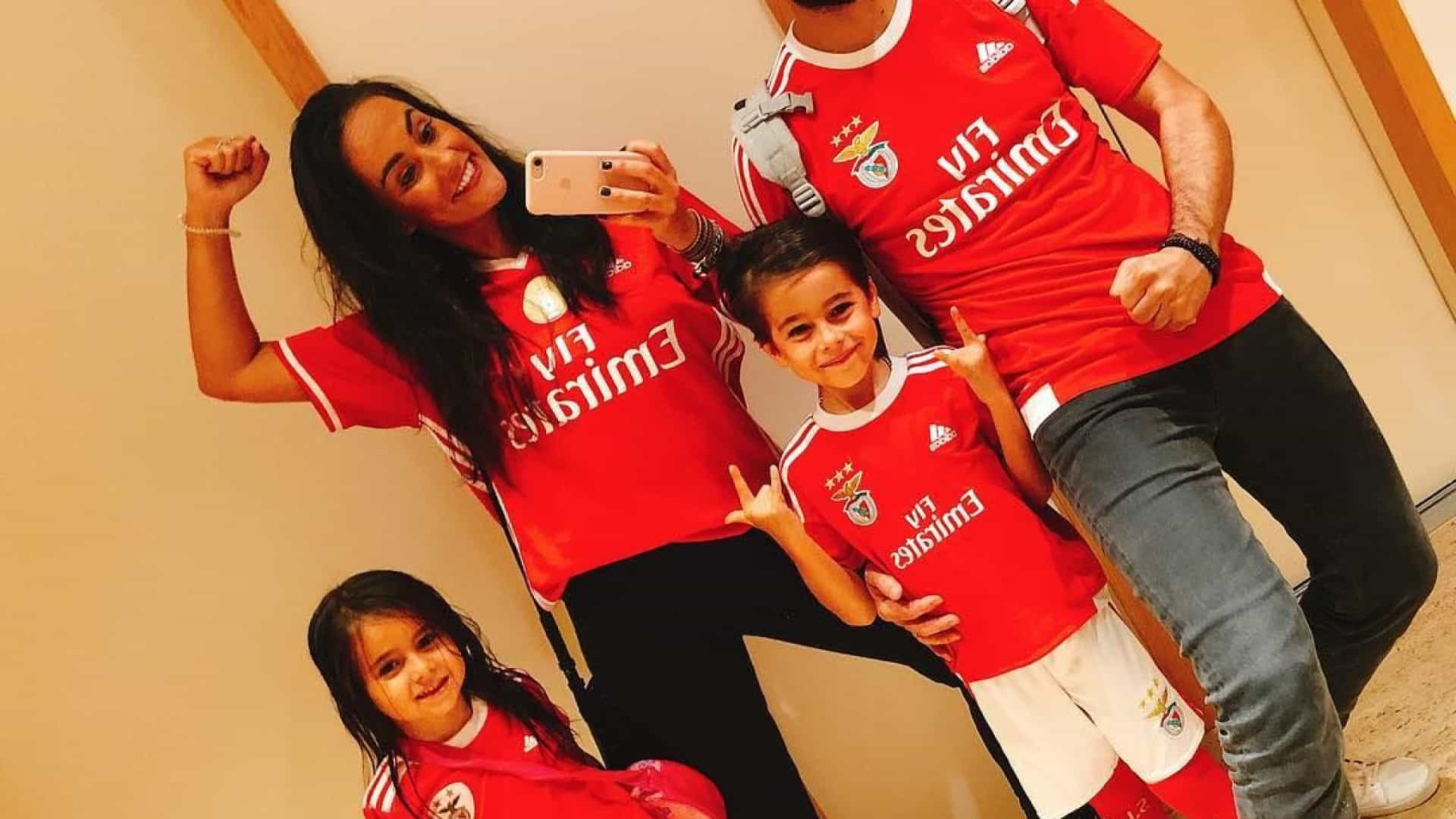 Família de Ricardo Pereira vestiu-se a rigor para apoiar o Benfica