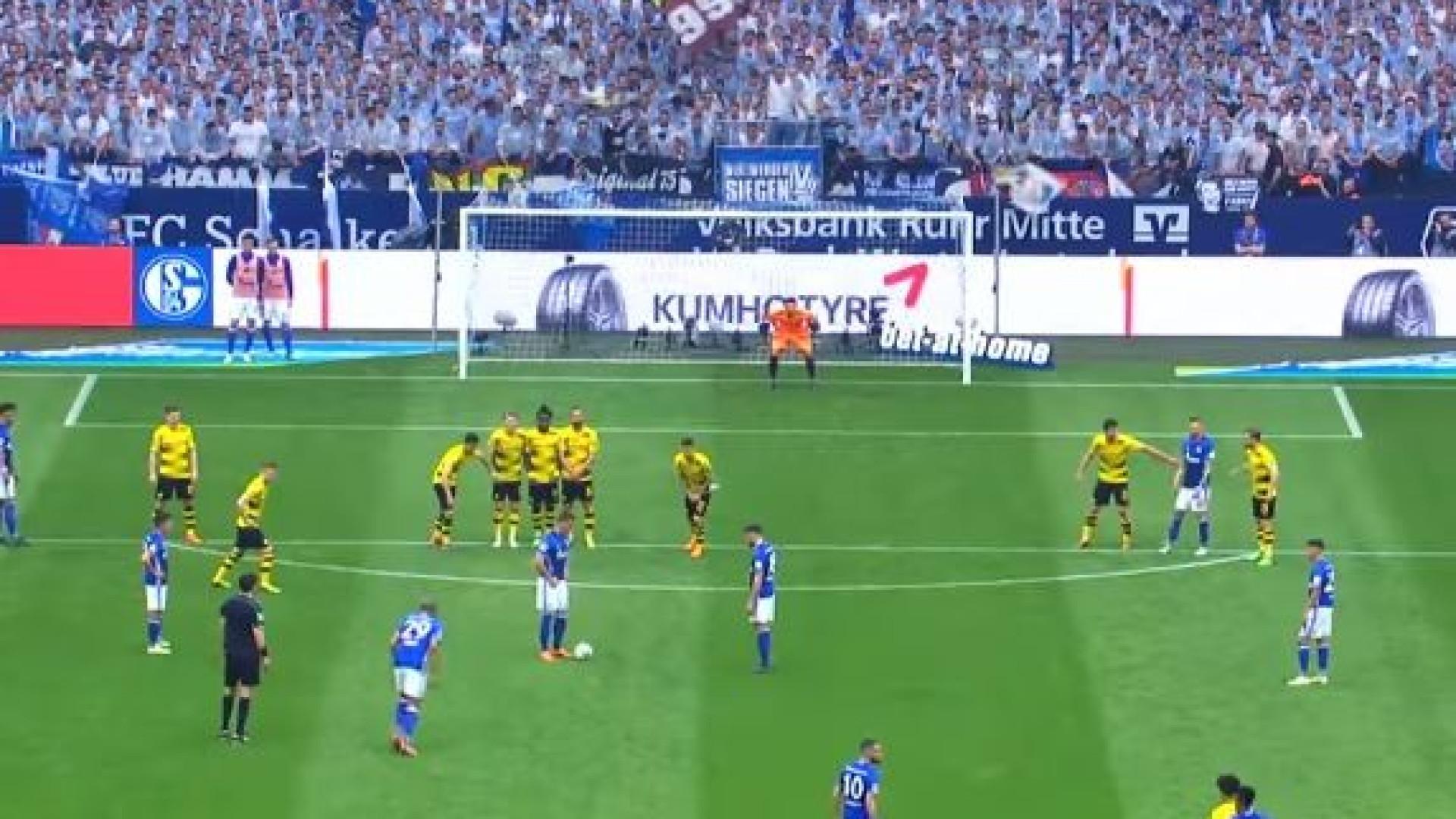 Golo de Naldo frente ao Dortmund chegou aos 126 km/h