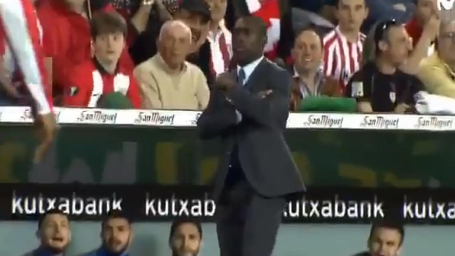Seedorf deixa banco de suplentes em êxtase após domínio de bola