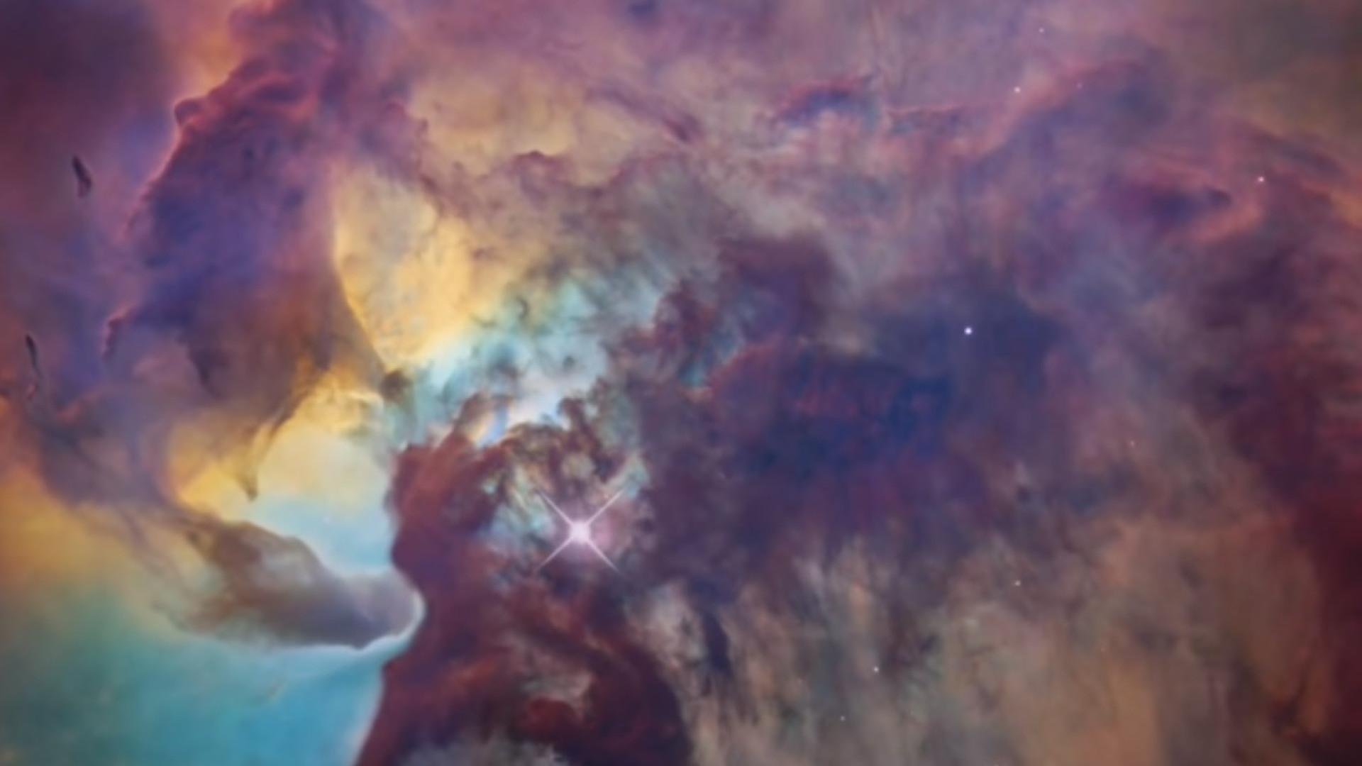 O fantástico vídeo da Nasa da Nebulosa da Lagoa