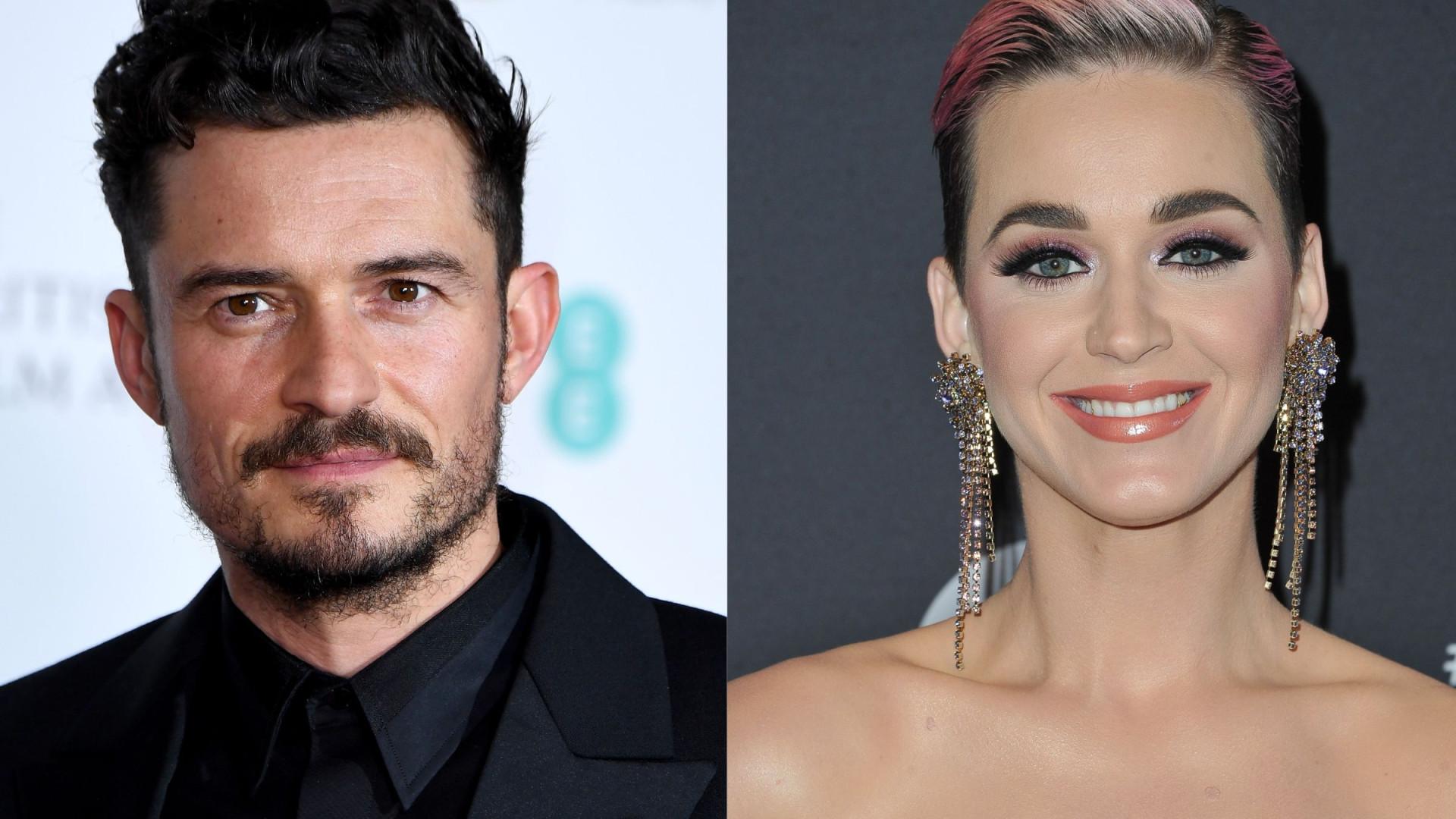 Katy Perry declara-se ao companheiro em dia de festa