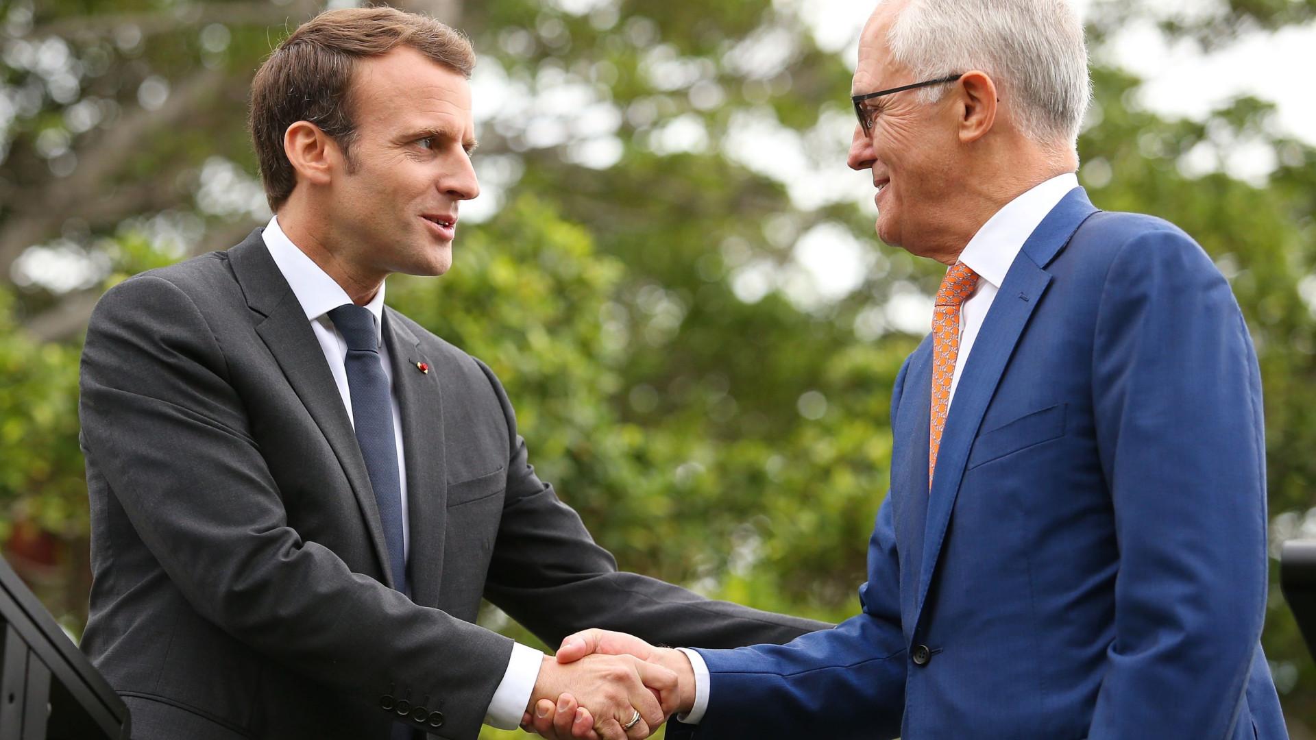 Macron chama mulher do premiê australiano de 'deliciosa' e situação vira piada