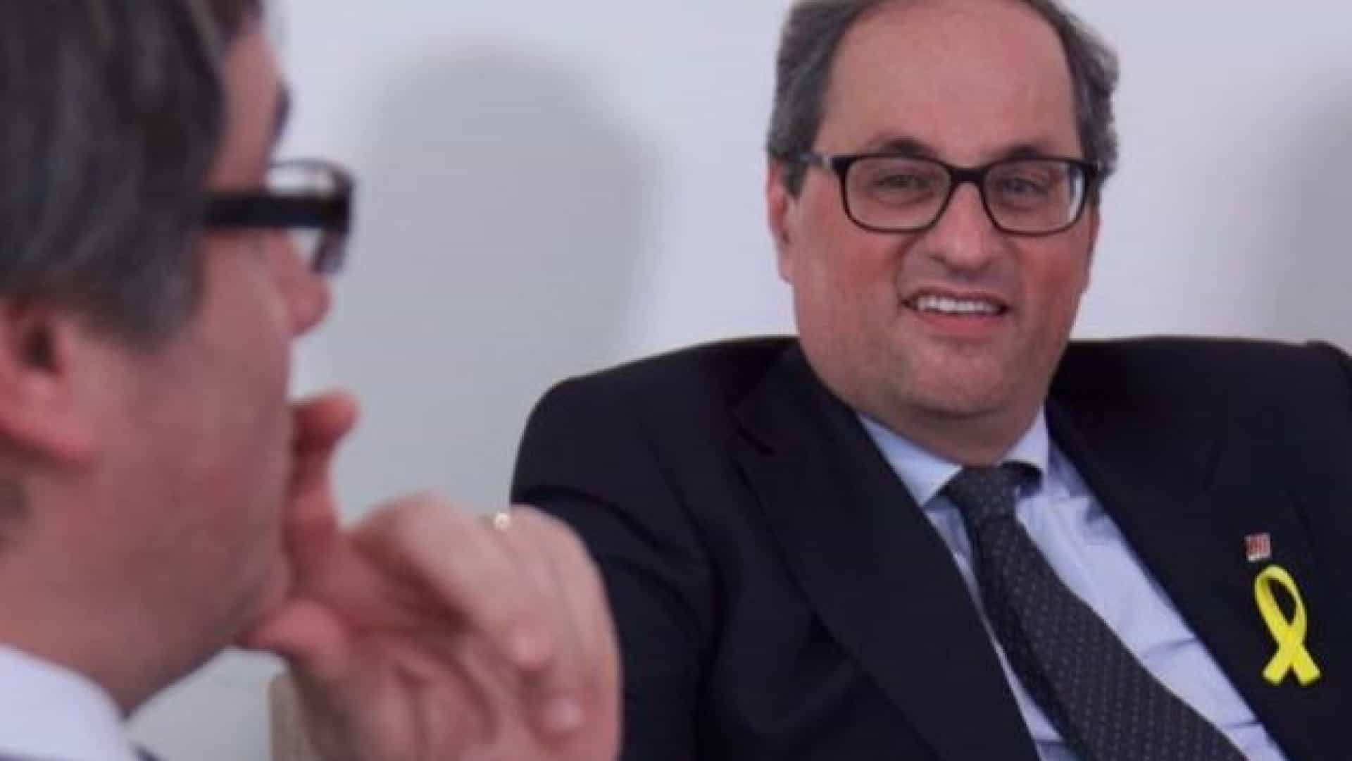 Independentista Quim Torra toma posse sem a presença do Governo central