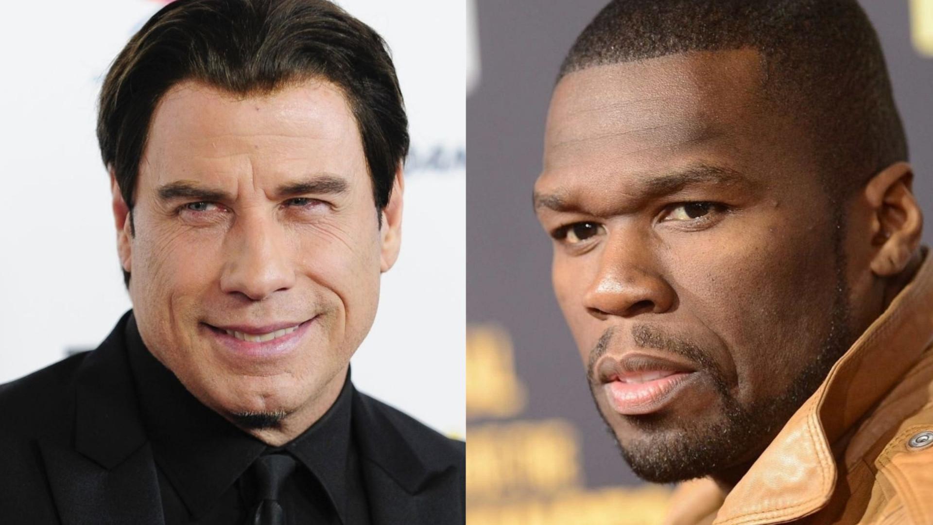 John Travolta mostra os seus dotes de dançarino ao lado de 50 Cent
