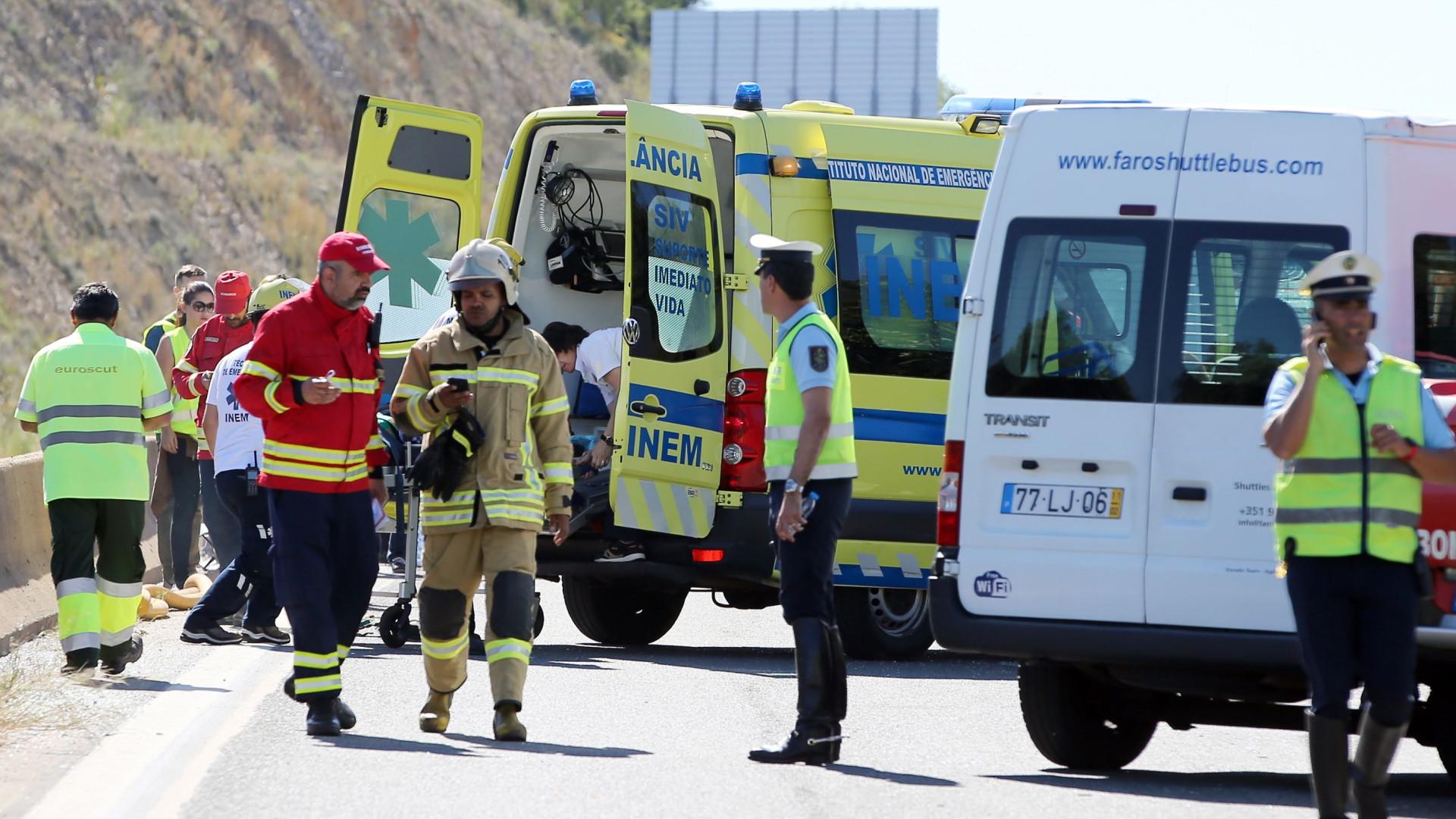 Permanecem internados cinco feridos graves do acidente com autocarro