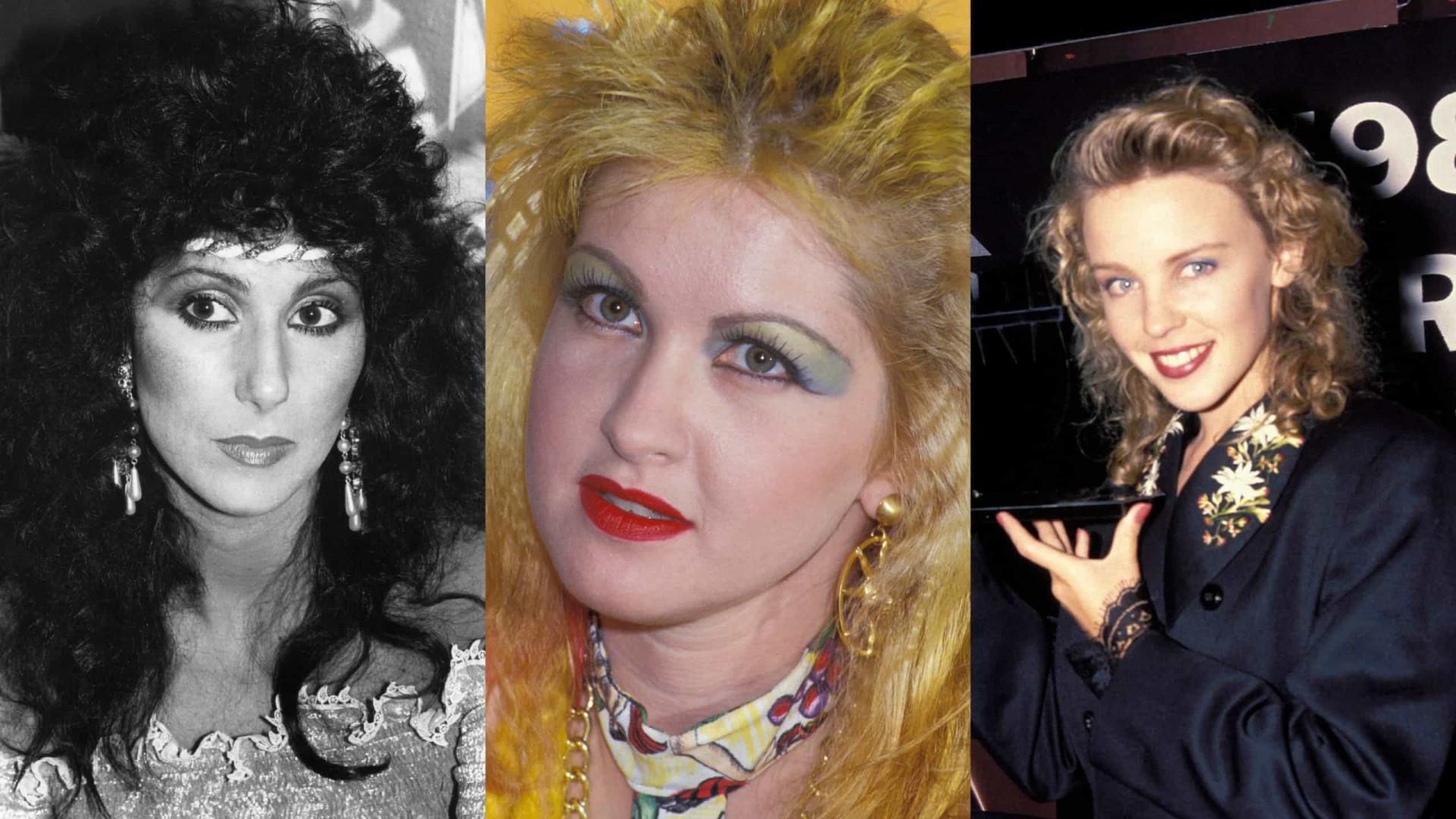 O antes e o depois das divas dos anos 1980