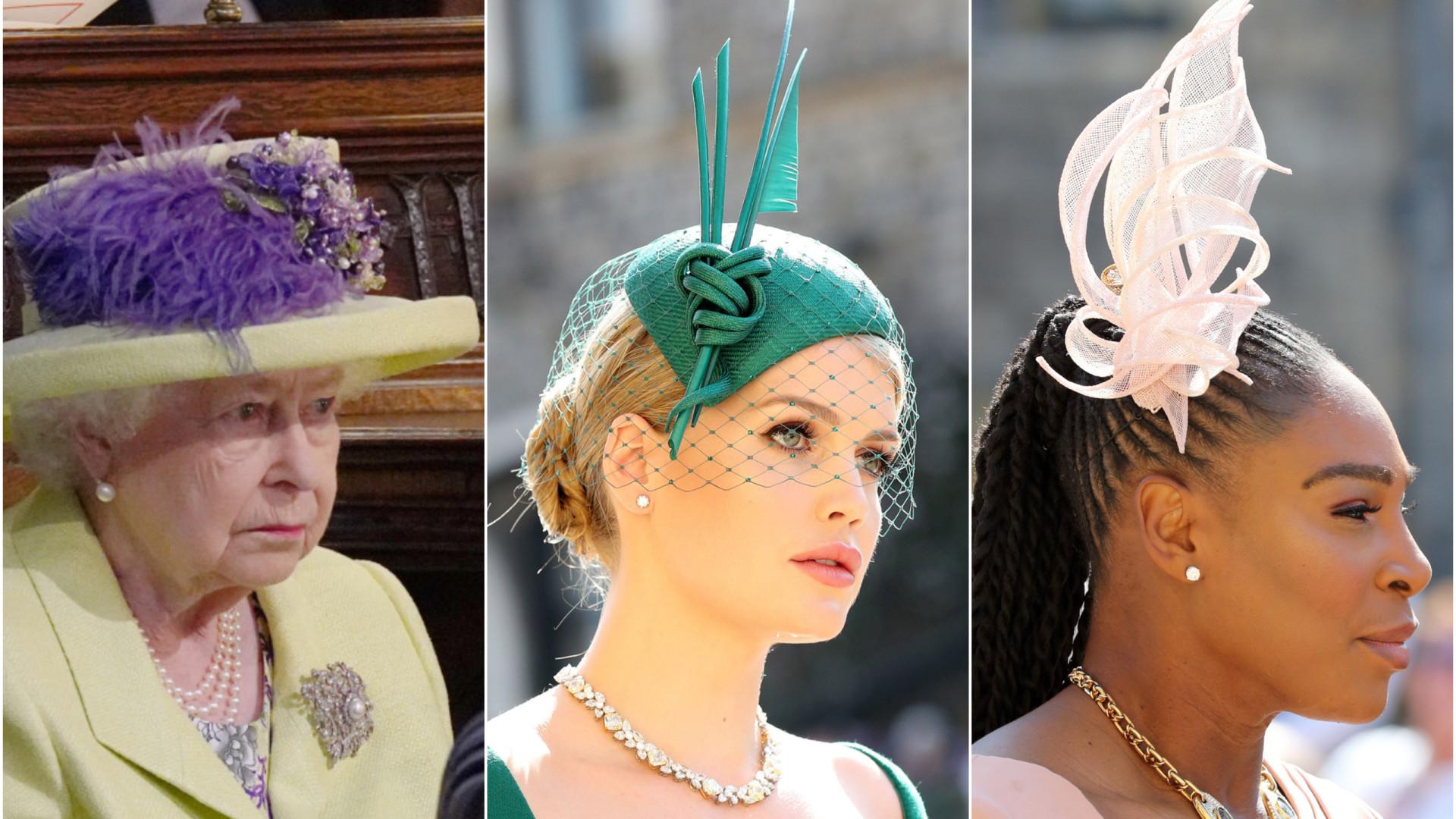 Os chapéus que mais se destacaram no casamento de Harry e Meghan
