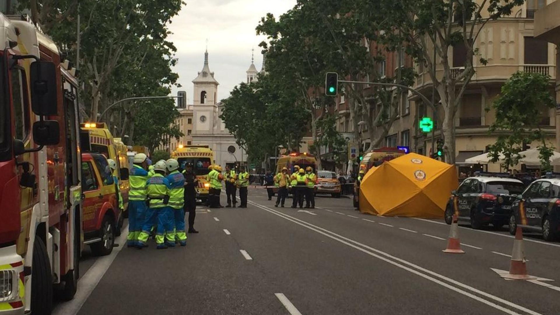 Prédio de sete andares cai em Madrid. Dois trabalhadores desaparecidos