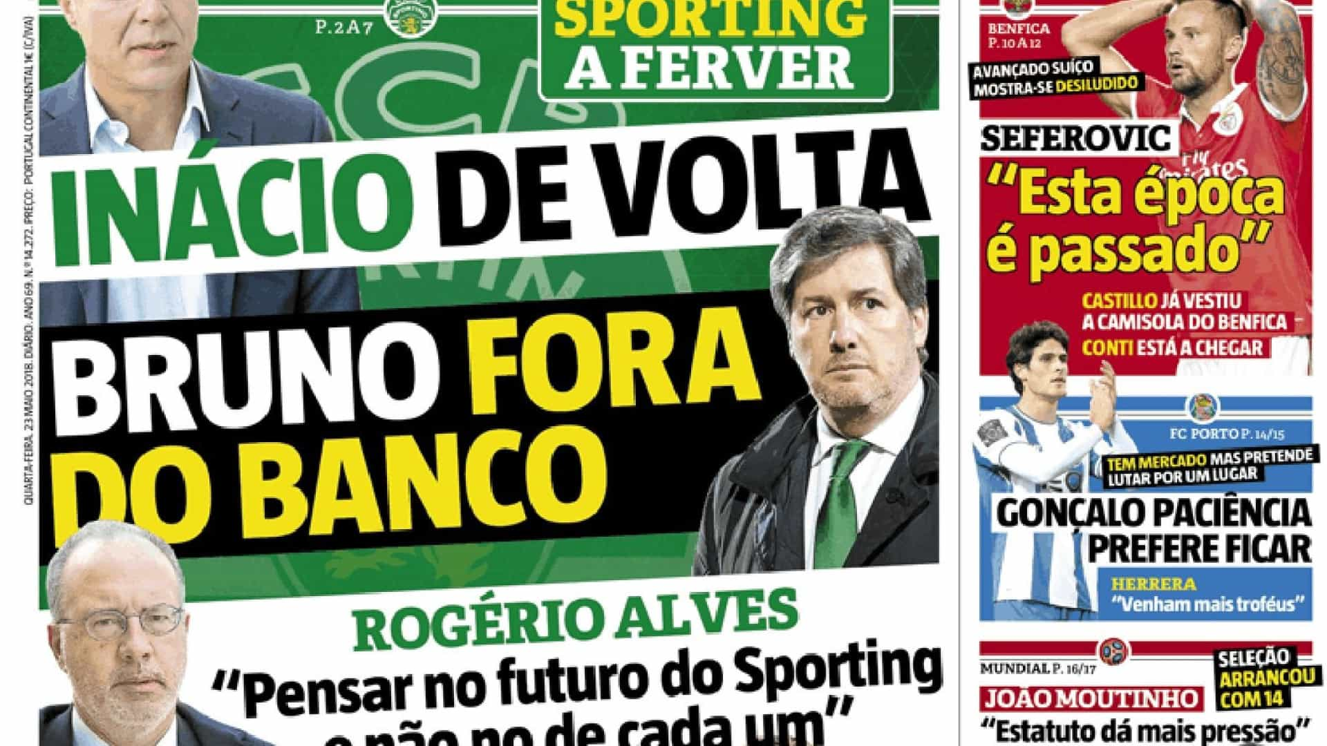 "Destaques: Sporting a ferver, o mercado e as ""almas azuis"""