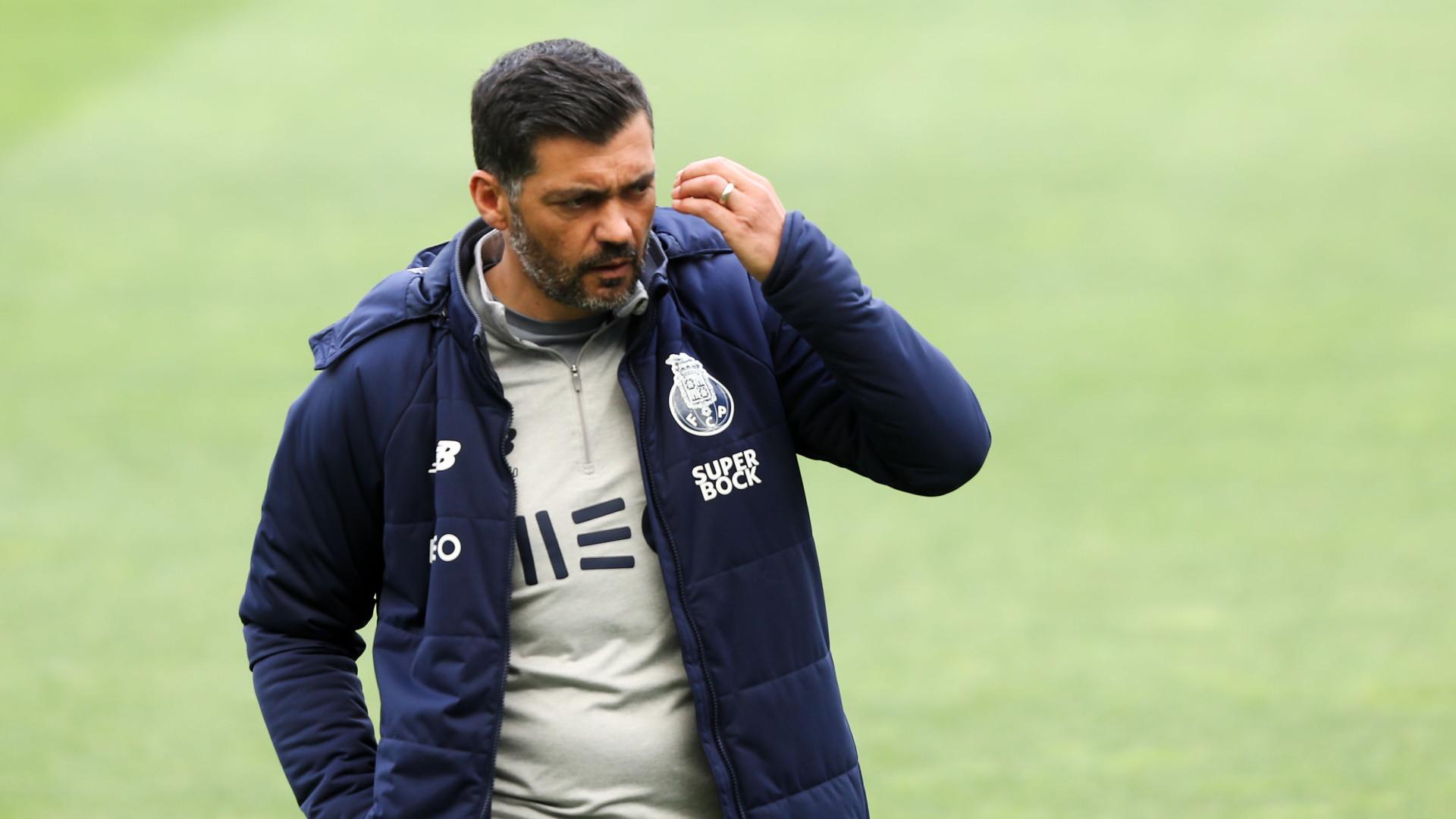 Sérgio Conceição dá 'guia de marcha' a seis jogadores