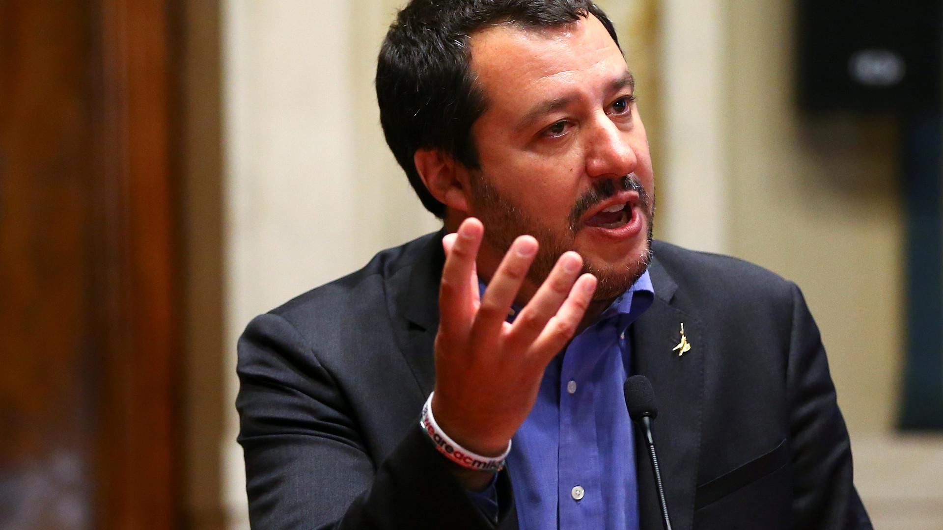 Salvini convida homólogo francês para debater cooperação fronteiriça