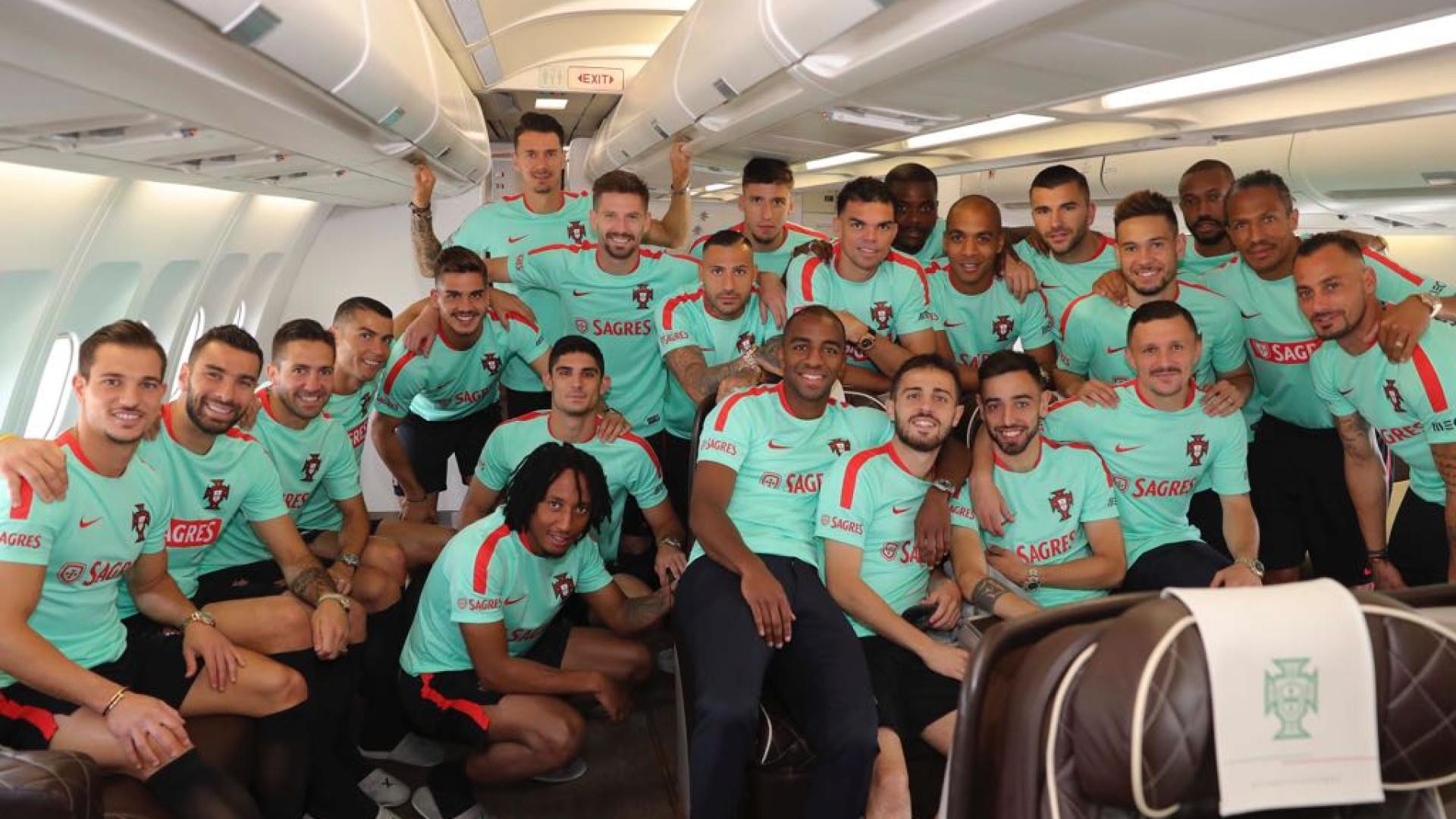 A última fotografia da Seleção Nacional antes de deixar o solo português