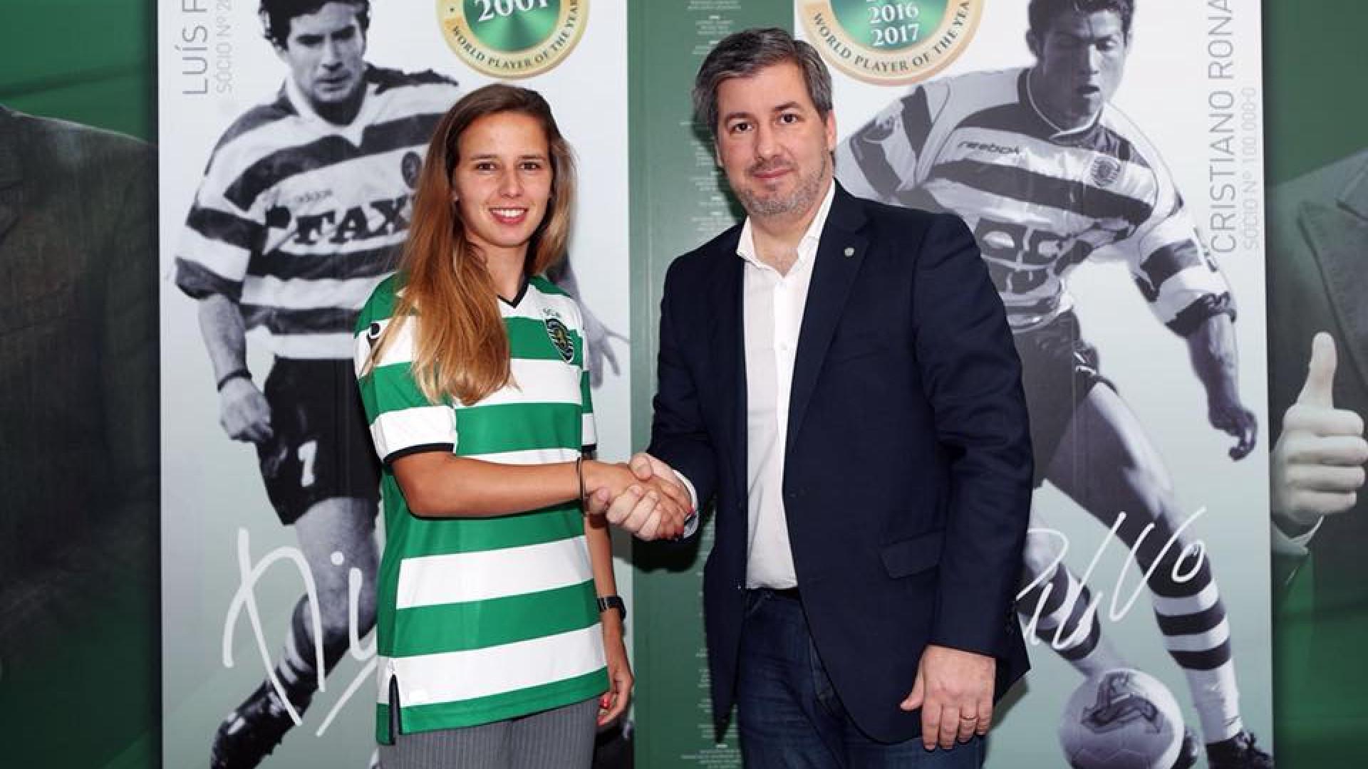Tatiana Pinto renova contrato com o Sporting