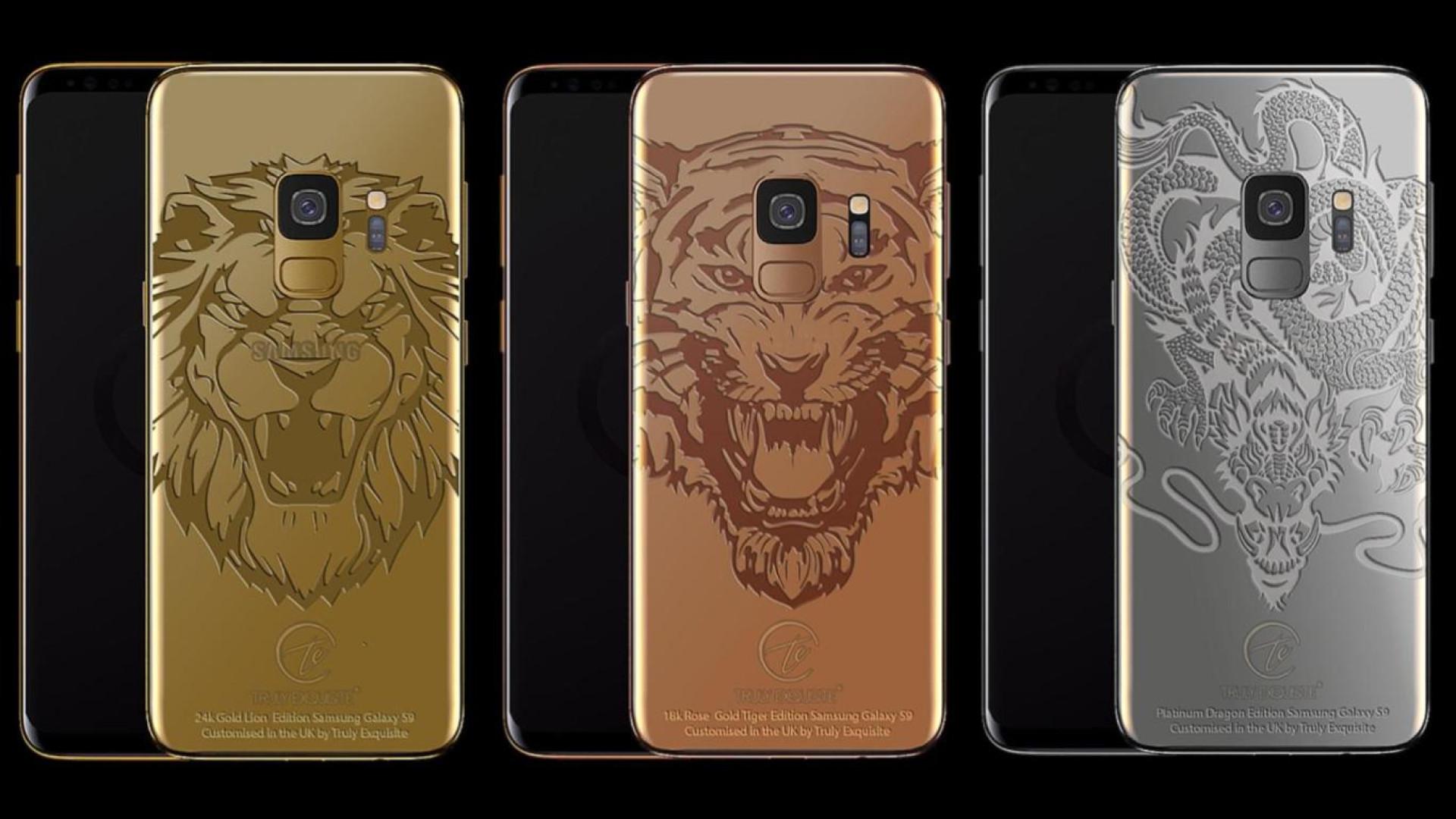 Galaxy S9 de luxo disponíveis em ouro e platina já estão à venda