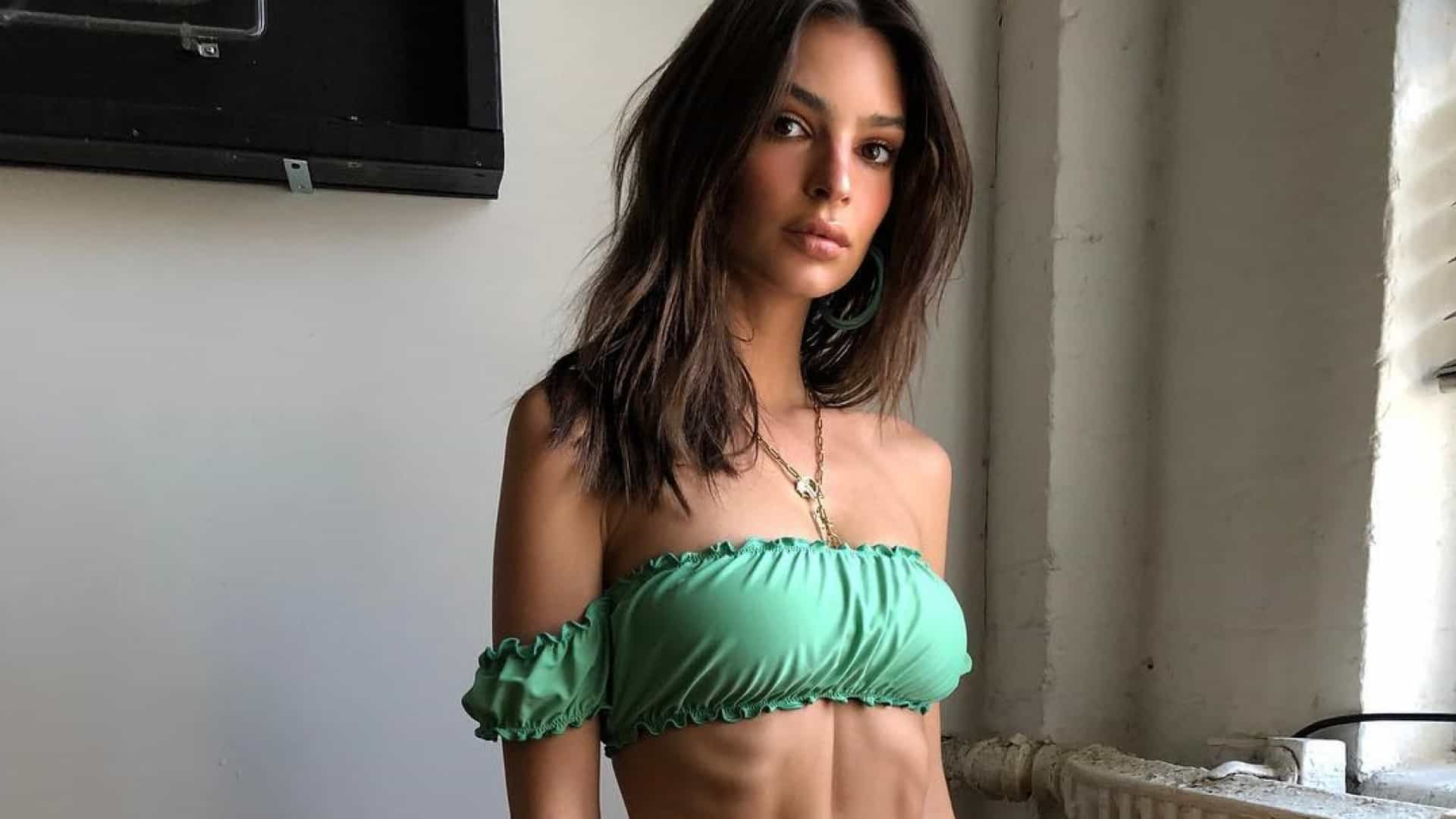 Magreza de Emily Ratajkowski impressiona fãs