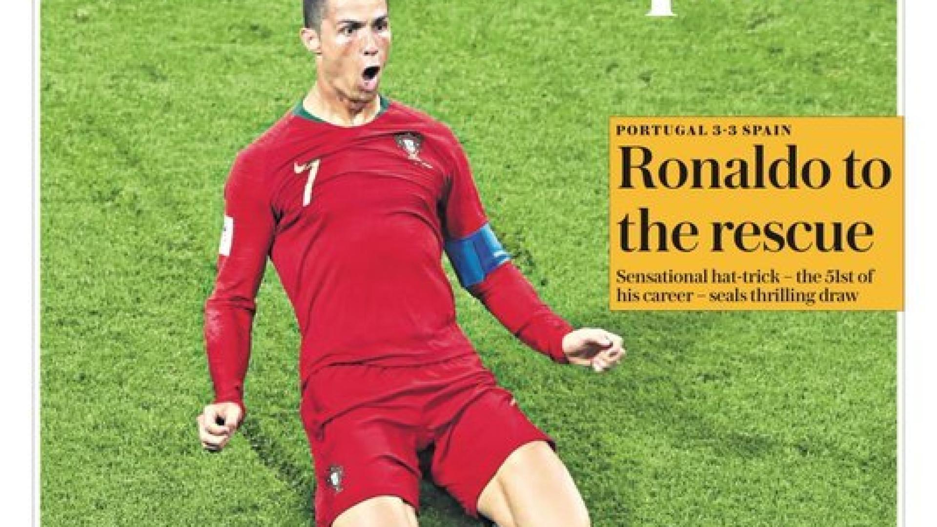 """""""Deem-lhe o aumento!"""": """"Magnífico"""" Ronaldo domina atenções europeias"""