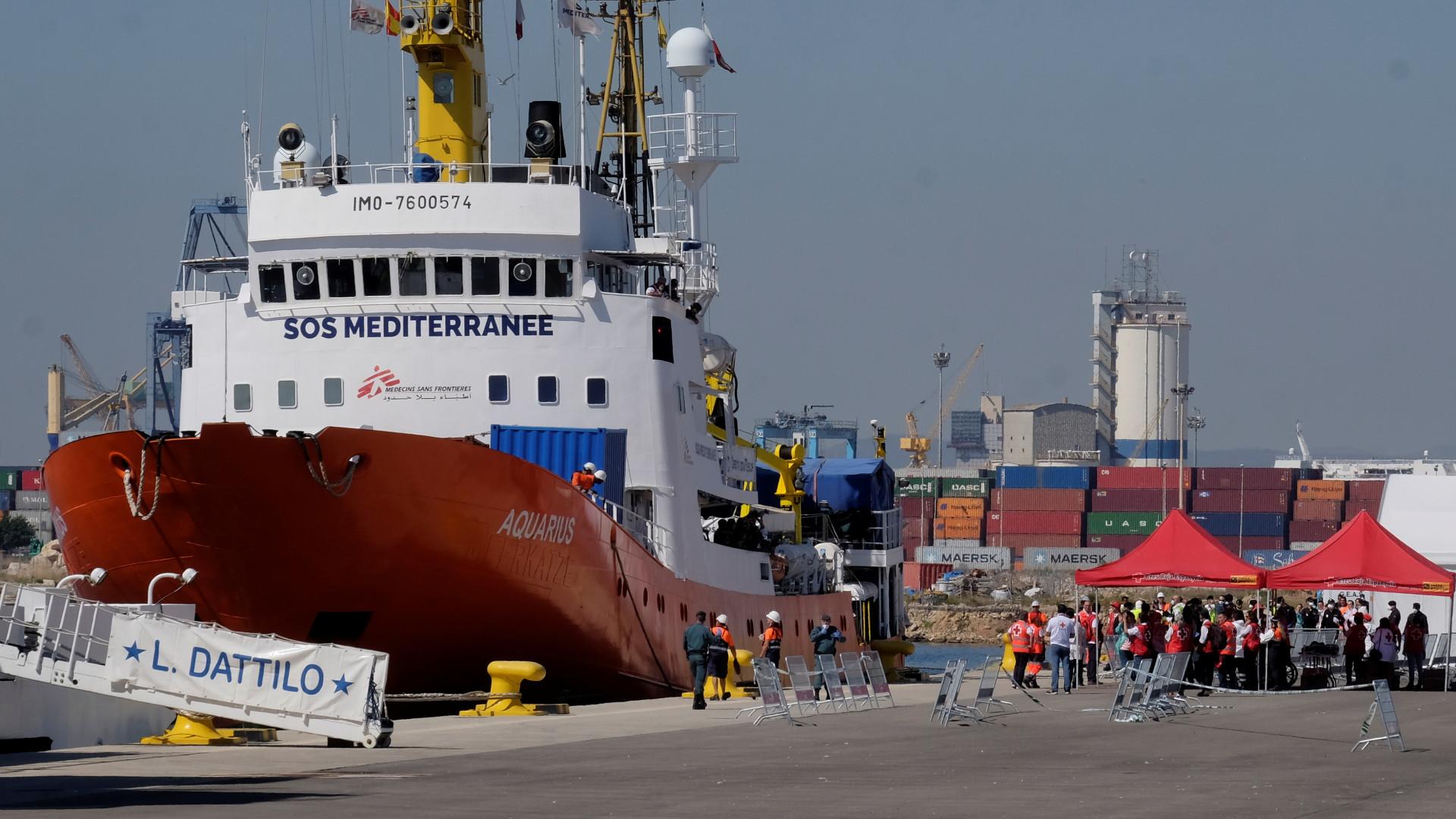 Grupo do navio 'Aquarius' deverá chegar a Portugal em setembro
