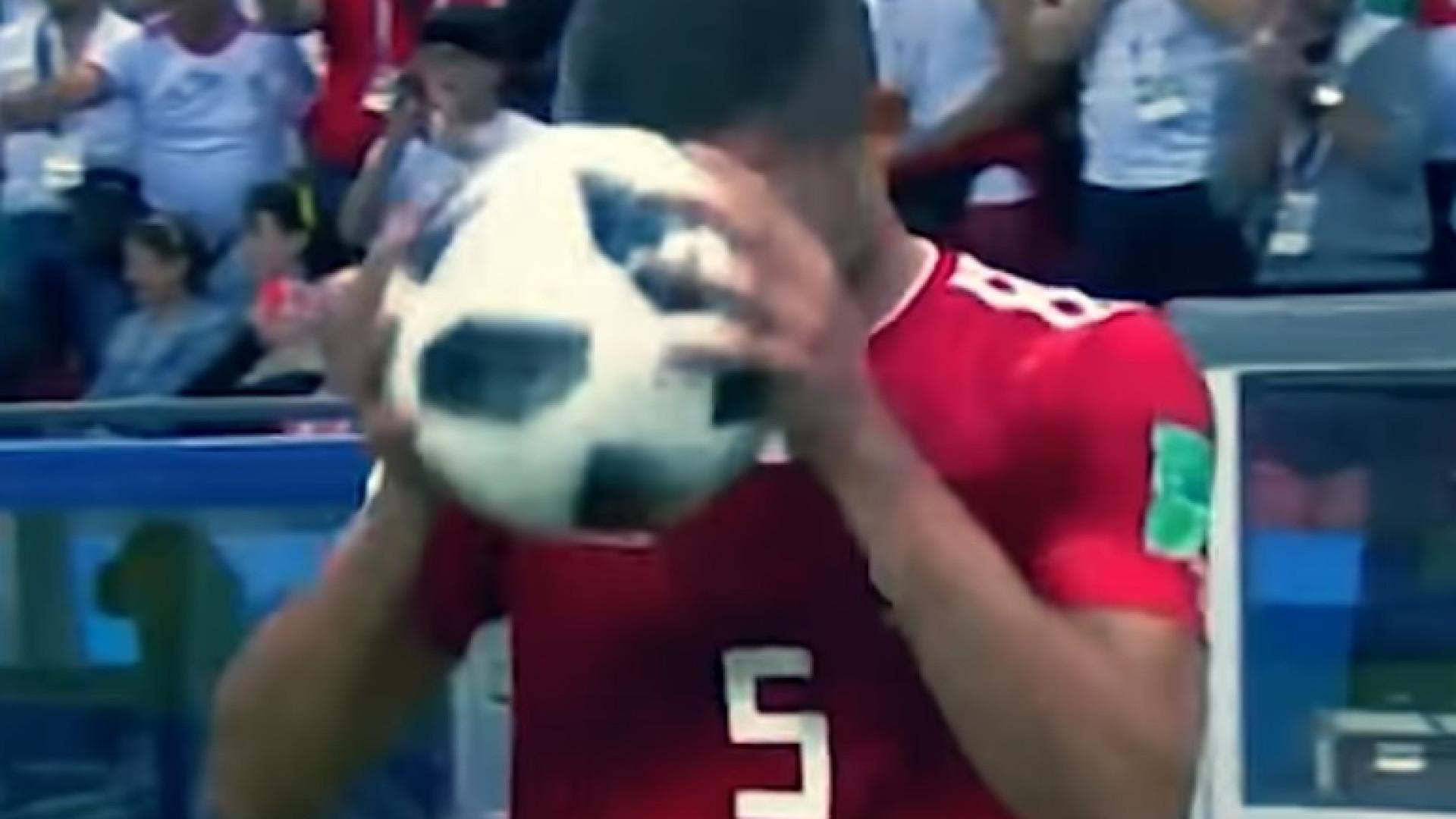 Jogador do Irão protagonizou o momento mais hilariante deste Mundial