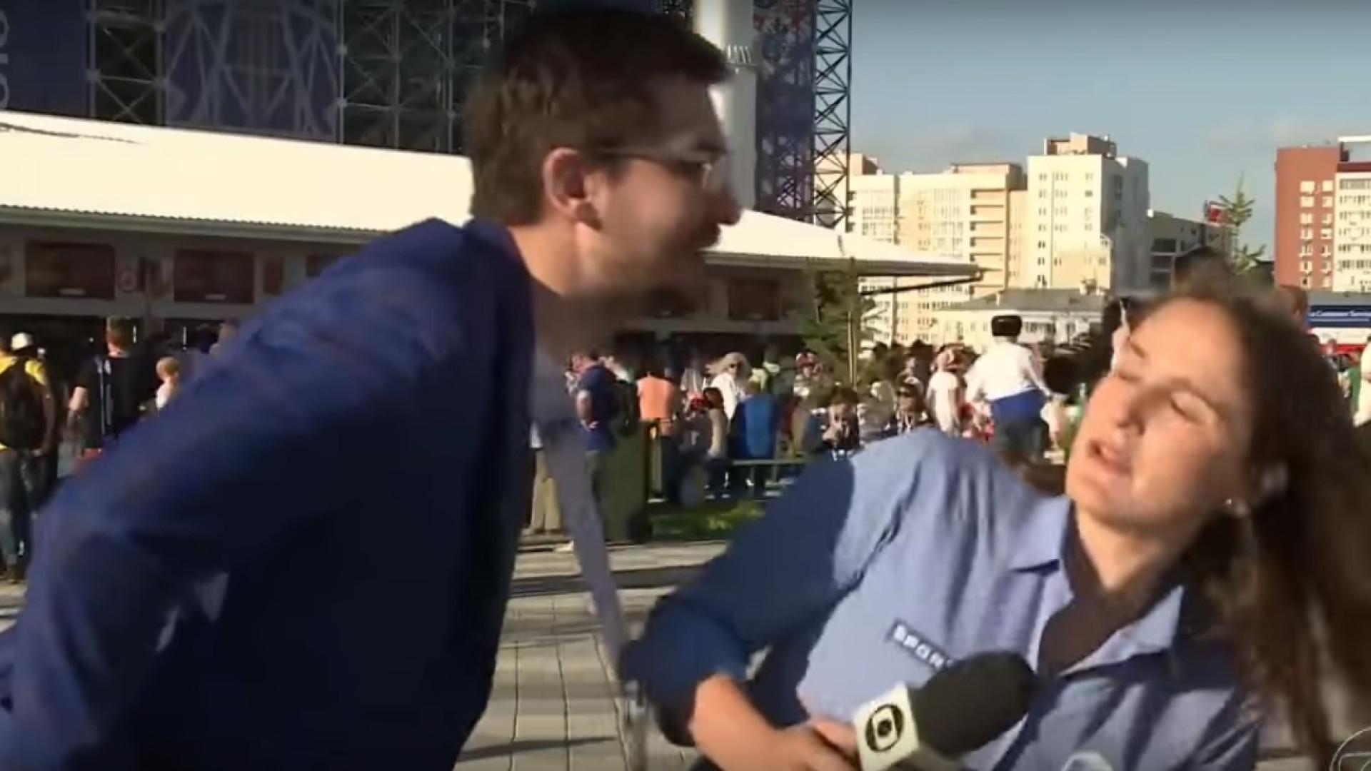 Jornalista brasileira foi assediada, não gostou e respondeu em direto