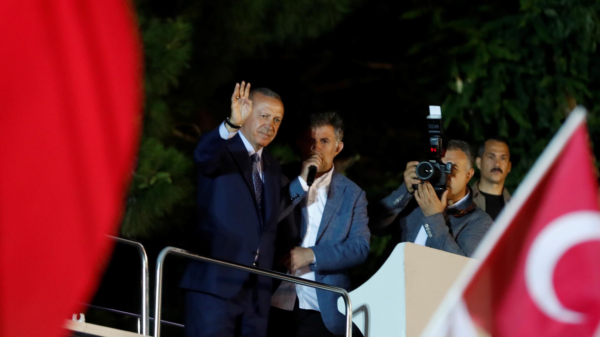 Erdogan reivindica vitória nas eleições presidenciais e legislativas