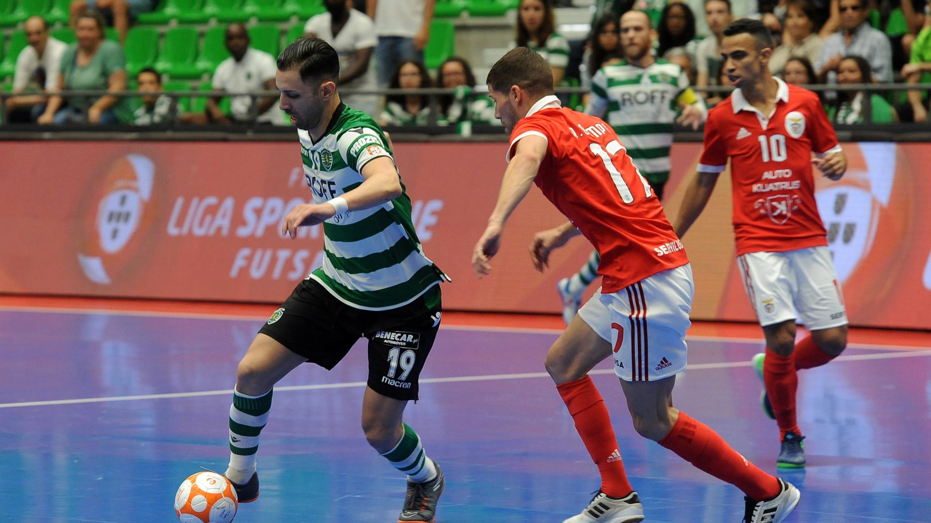 Futsal  Árbitro do Sporting-Benfica agredido com