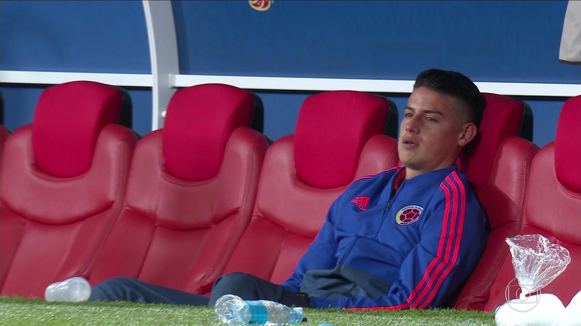 James Rodríguez foi às lágrimas com a eliminação da Colômbia