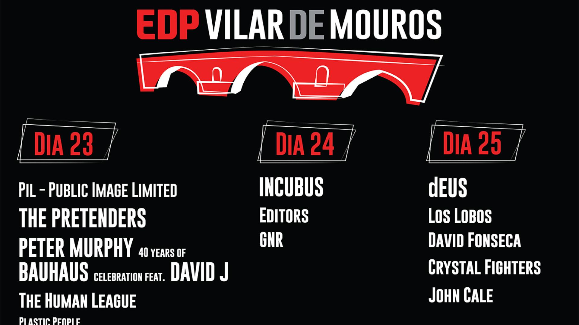 Editors e dEUS confirmados no EDP Vilar de Mouros