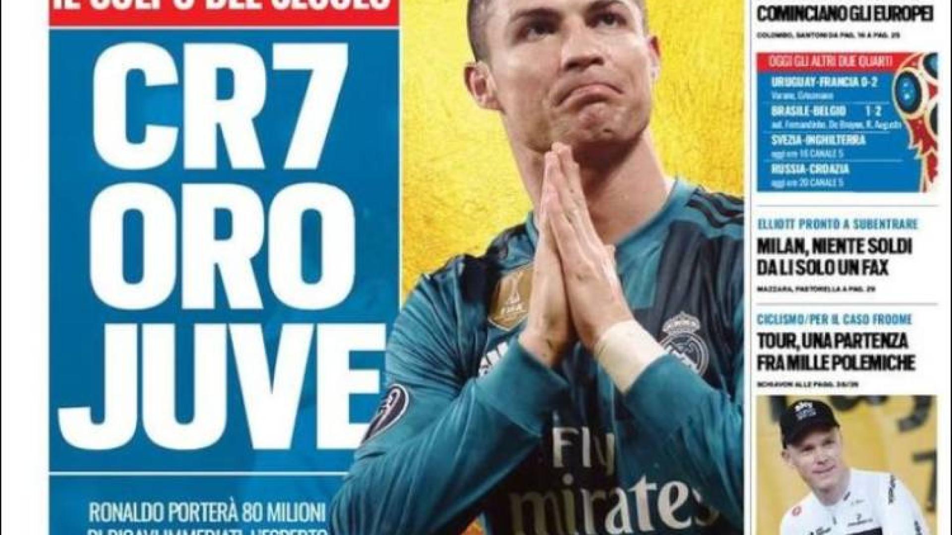 """Mundial virou Europeu e Ronaldo já está coberto a """"ouro"""""""