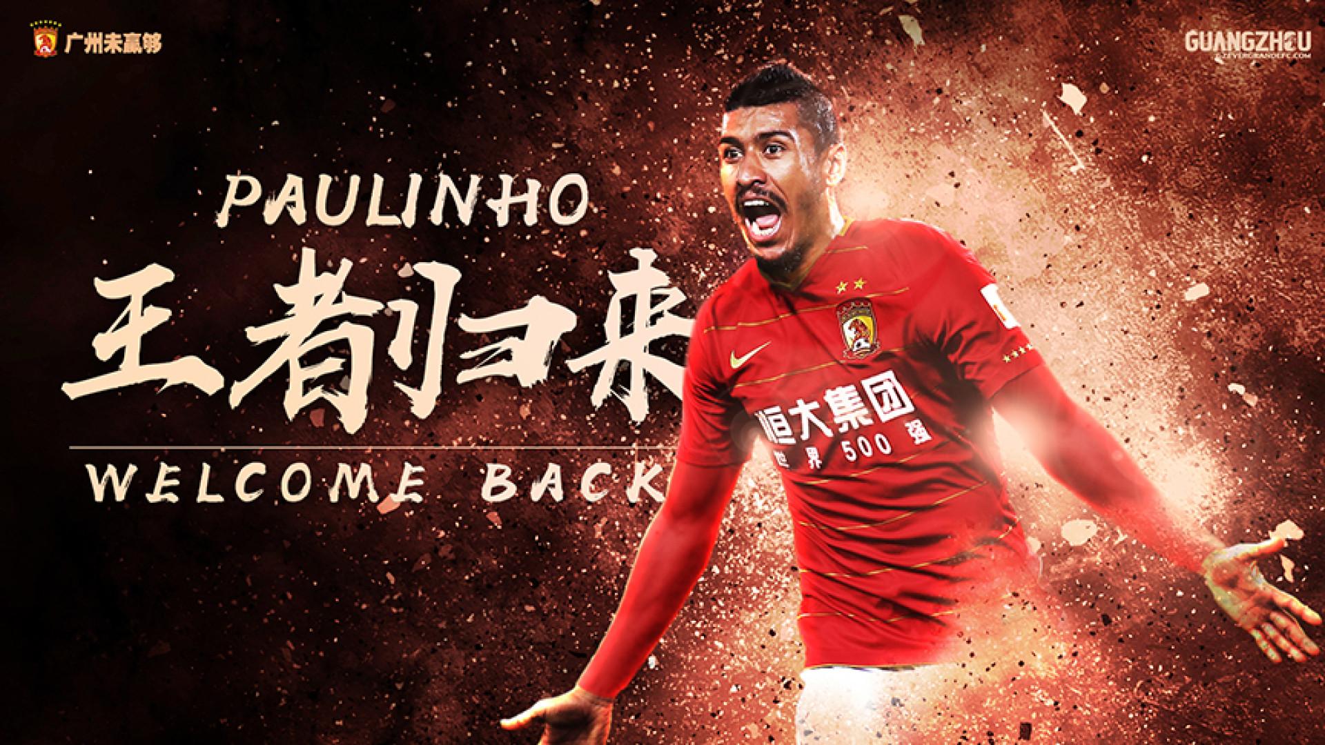 Oficial: Paulinho está de regresso ao Guangzhou Evergrande