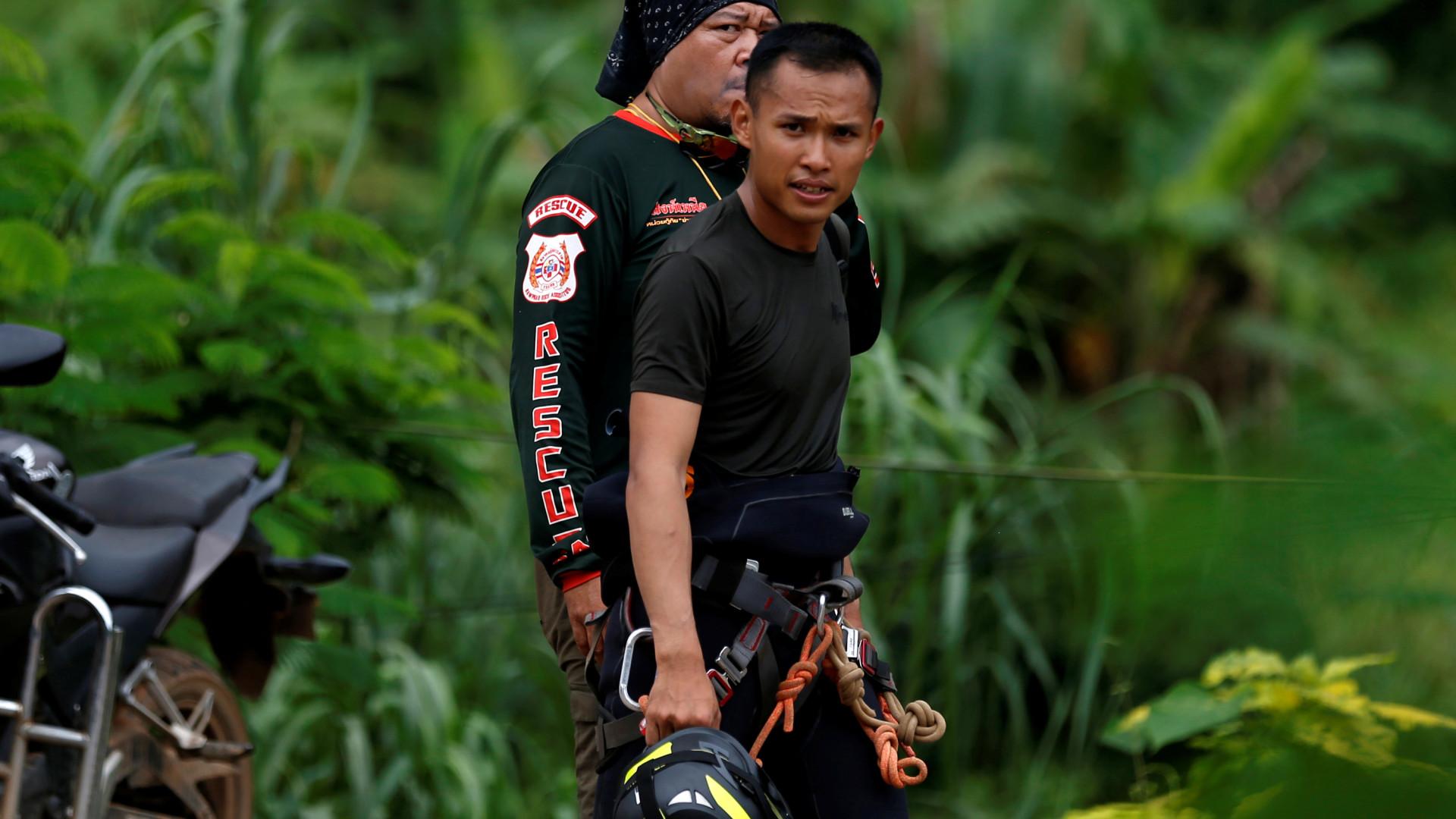 Uma manhã sem chuva que pode ser decisiva para o resgate na Tailândia
