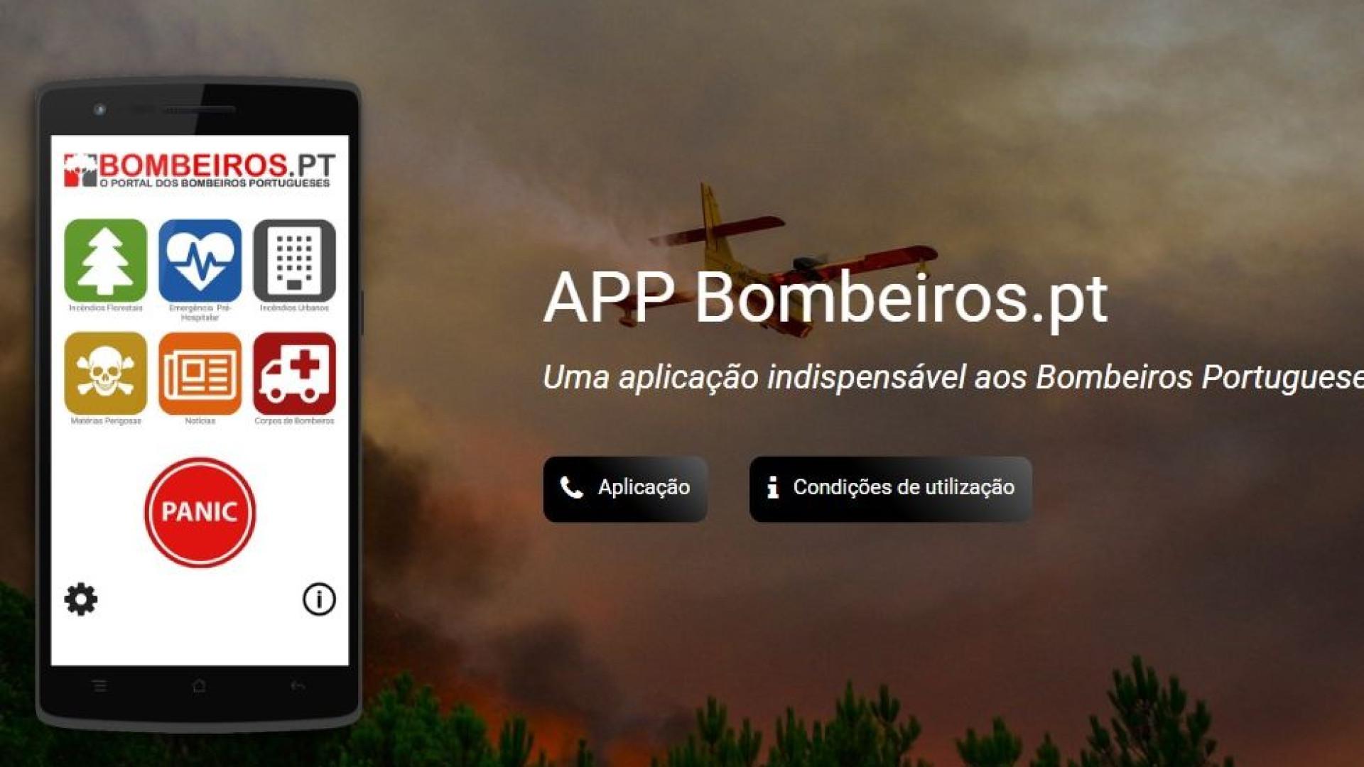 App Bombeiros.pt lança versão para IOS que inclui pedido de emergência
